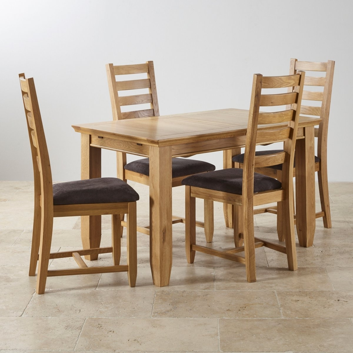 Extending Oak Dining Tables And Chairs for Newest Classic Extending Dining Set In Oak Dining Table 6 Chairs Wooden