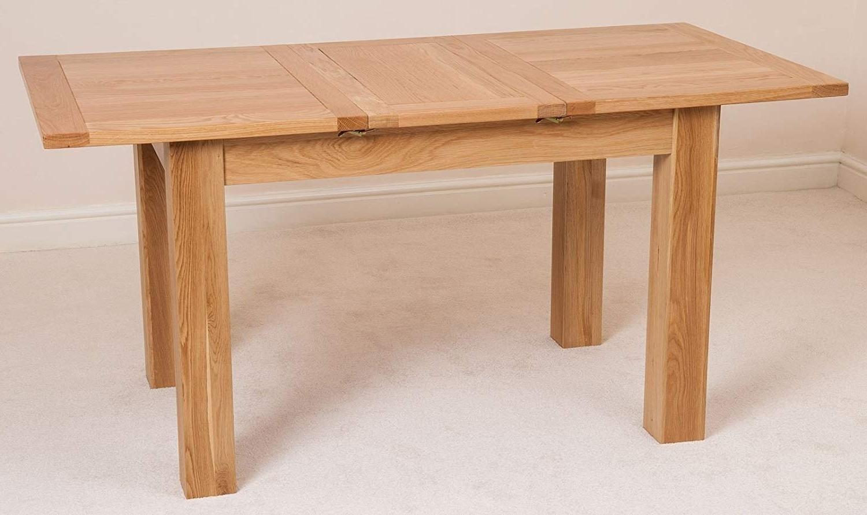 Extending Oak Dining Tables for Famous Hampton Solid Oak Extending Dining Table, (120-160 Cm): Amazon.co.uk