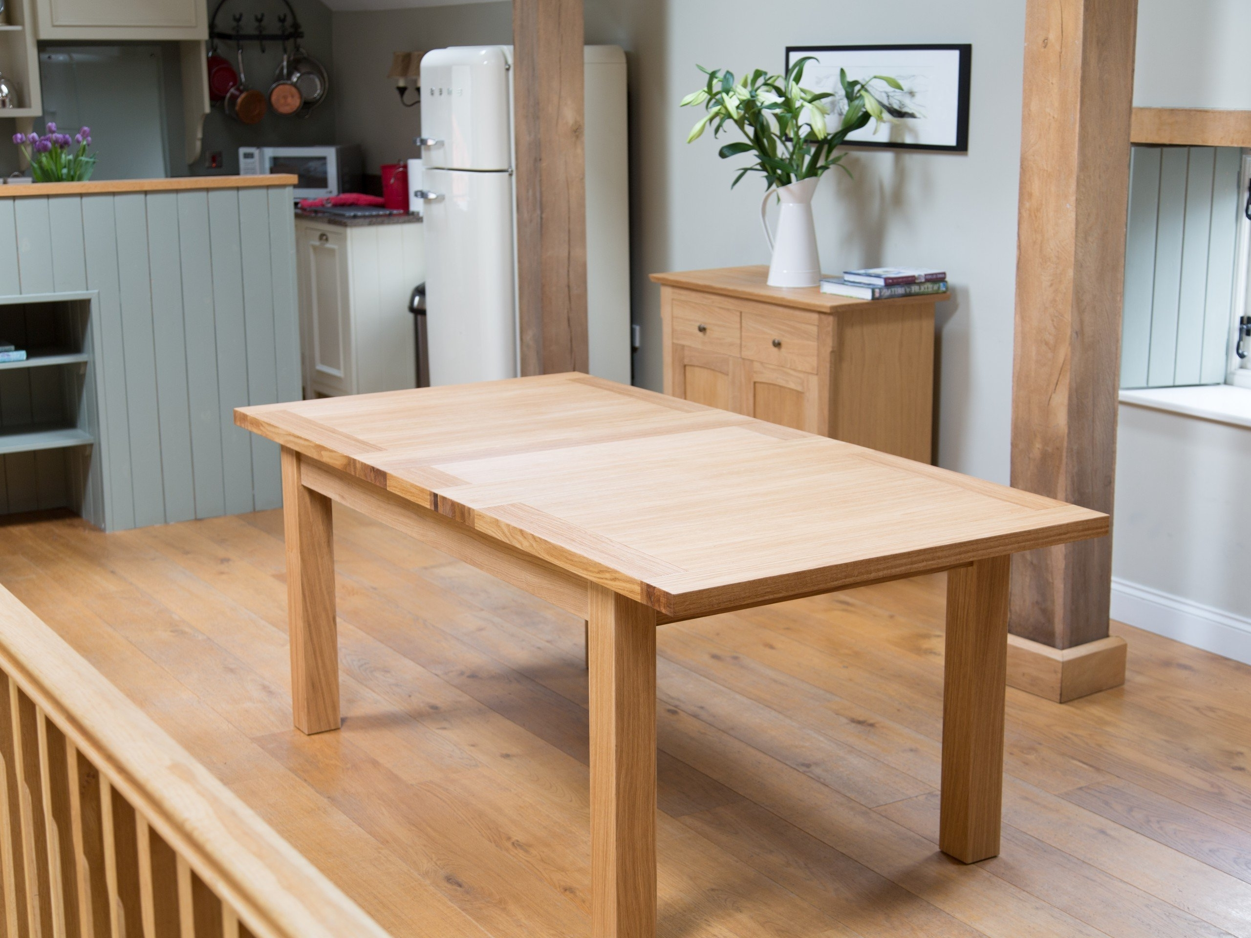 Extending Oak Dining Tables In Best And Newest Tallinn Butterfly Extending European Oak Table 1.6M –  (View 25 of 25)