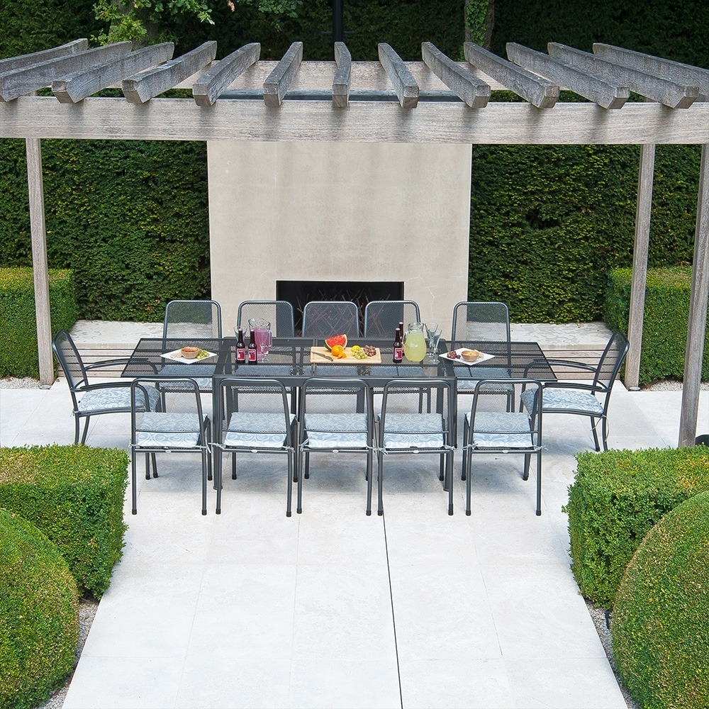 Extending Outdoor Dining Tables With Well Known Alexander Rose Portofino 12 Seater Set With Extending Table 1.5M / 2.7M (Gallery 19 of 25)