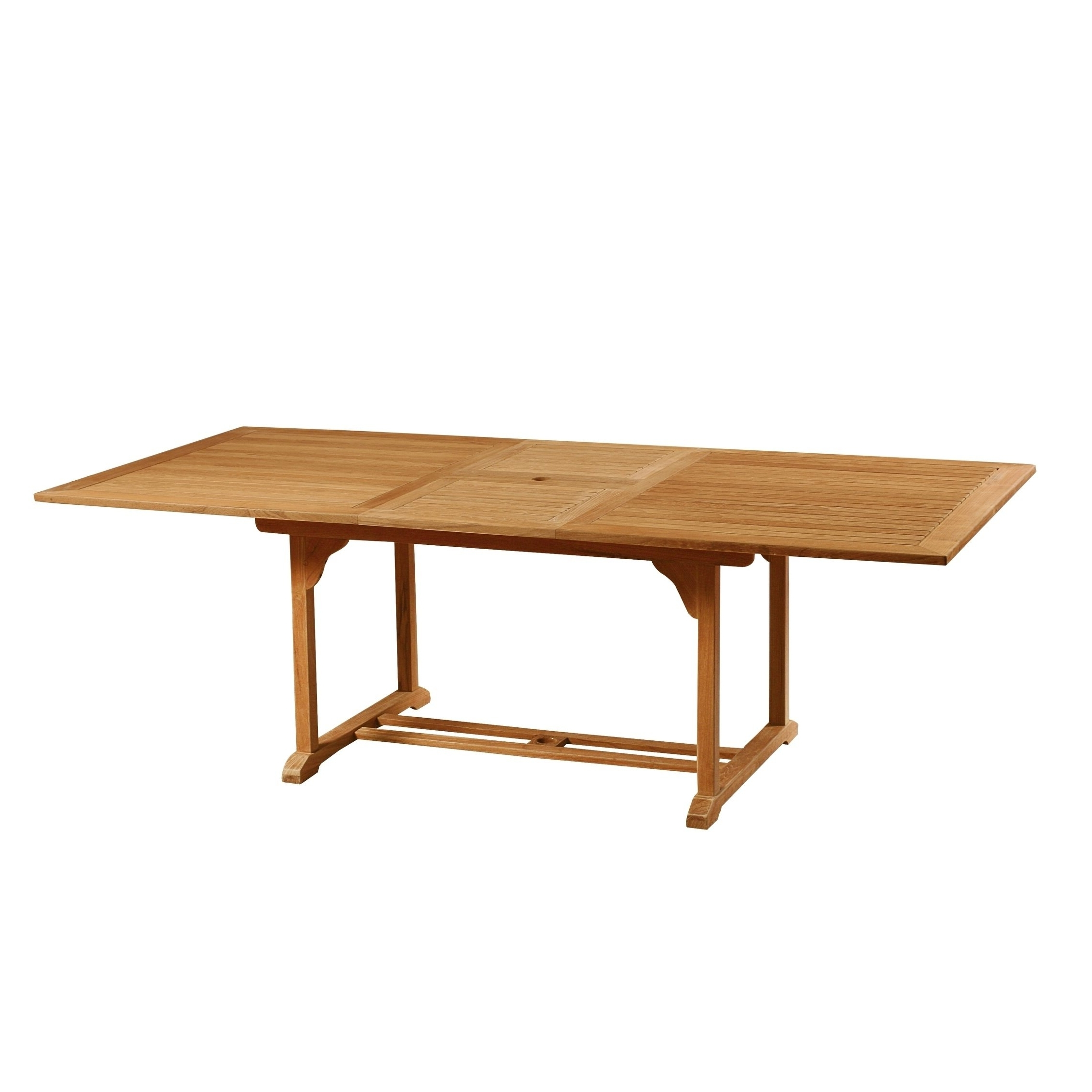 Extending Outdoor Dining Tables within Trendy Shop Dalton Outdoor Teak Extending Dining Table - Free Shipping