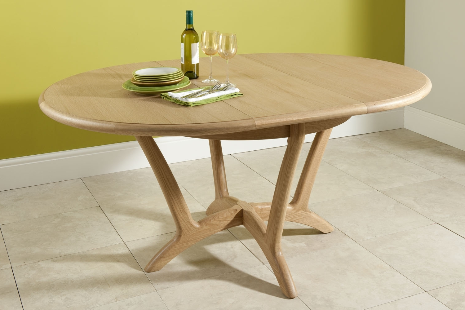Extending Round Dining Tables Intended For Recent Shetland Round Extending Dining Table Cardiff And Swansea (View 8 of 25)
