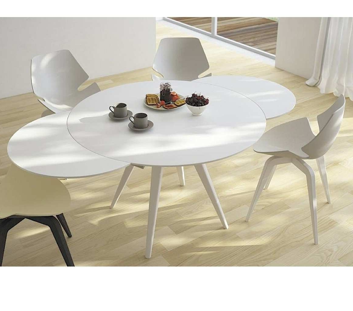 Extending Round Dining Tables Regarding Preferred Imágenes De Contemporary Extendable Round Dining Table (View 9 of 25)