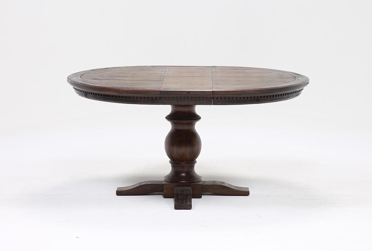Extension Round Dining Table - Parson.co throughout Widely used Jaxon Round Extension Dining Tables