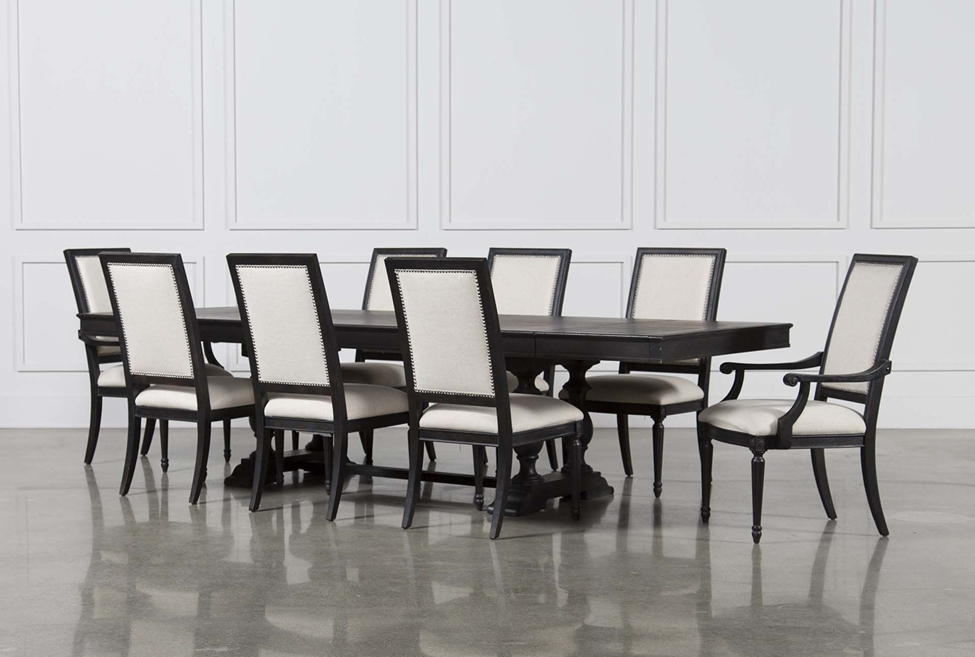 Extensions And Products With Latest Caira Black 5 Piece Round Dining Sets With Upholstered Side Chairs (Gallery 8 of 25)