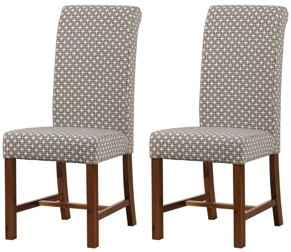 Fabric Covered Dining Chairs In Latest Buy Milk Chocolate Fabric Dining Chair (Pair) The Furn Shop (View 15 of 25)