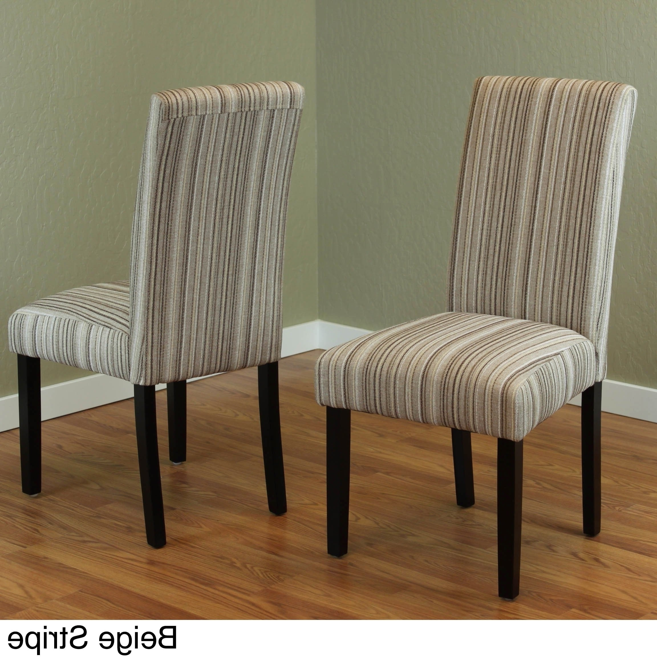 Fabric Dining Chairs With Regard To Newest Monsoon Seville Stripe Fabric Dining Chairs (Set Of 2) (View 3 of 25)