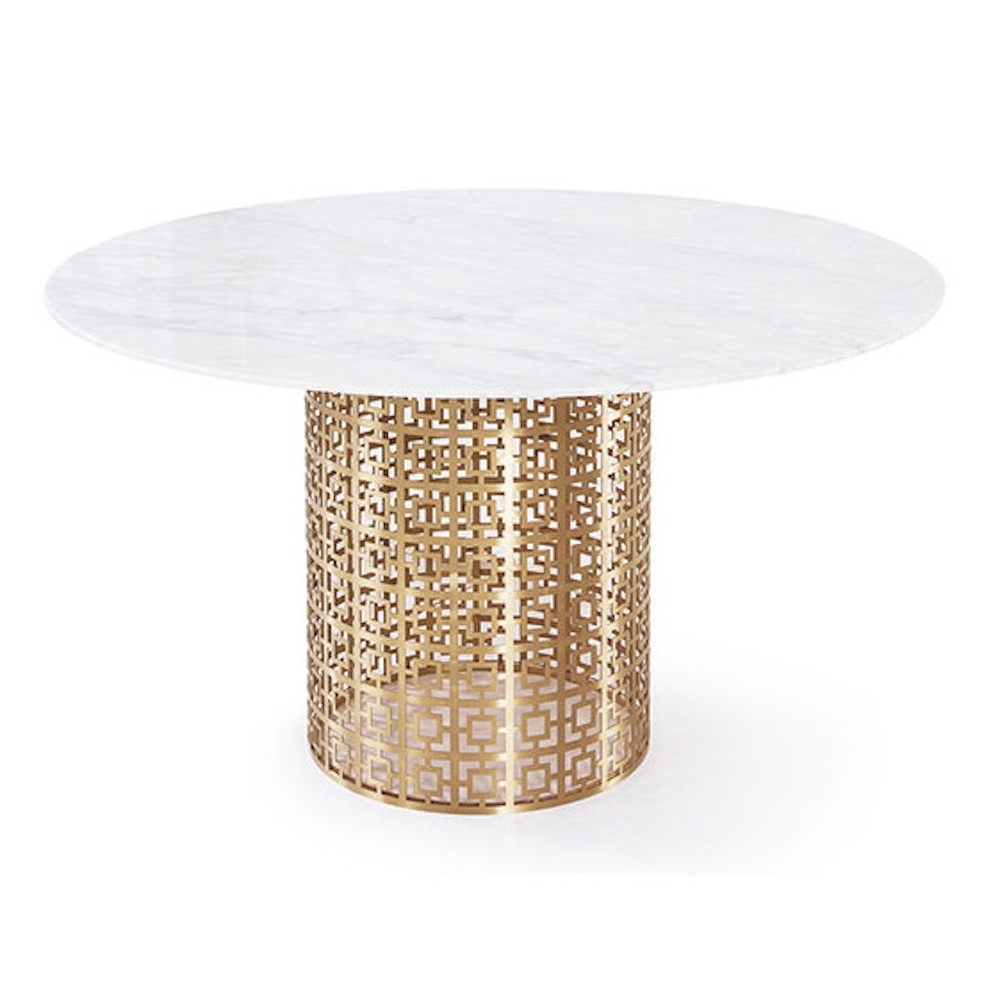Famous 10 White Marble Dining Tables You'll Adore Pertaining To White Circular Dining Tables (View 6 of 25)