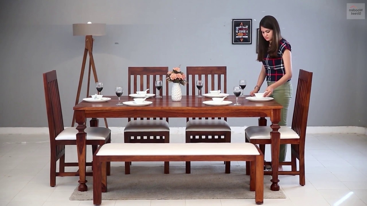 Famous 6 Seater Dining Set – Shop 6 Seater Dining Sets Online In Amazing In Six Seater Dining Tables (View 14 of 25)
