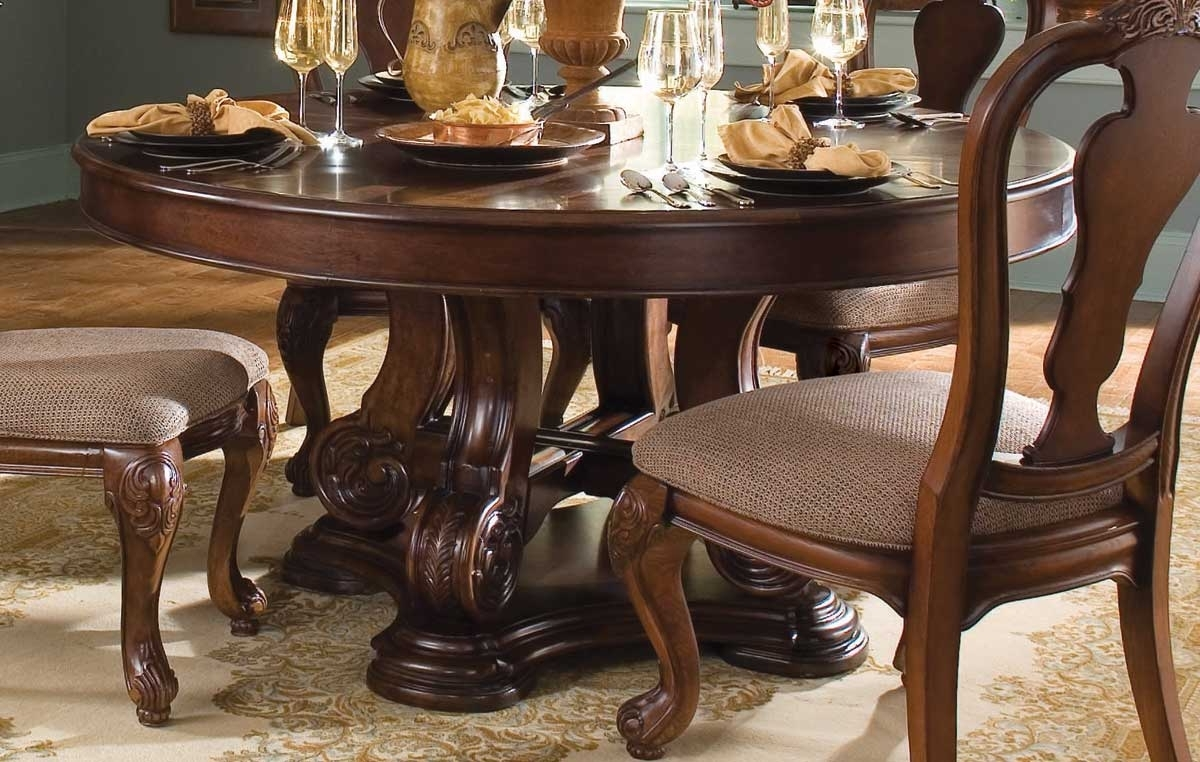 Famous American Drew Marbella Round Table 312 701R At Homelement Intended For Marbella Dining Tables (View 2 of 25)