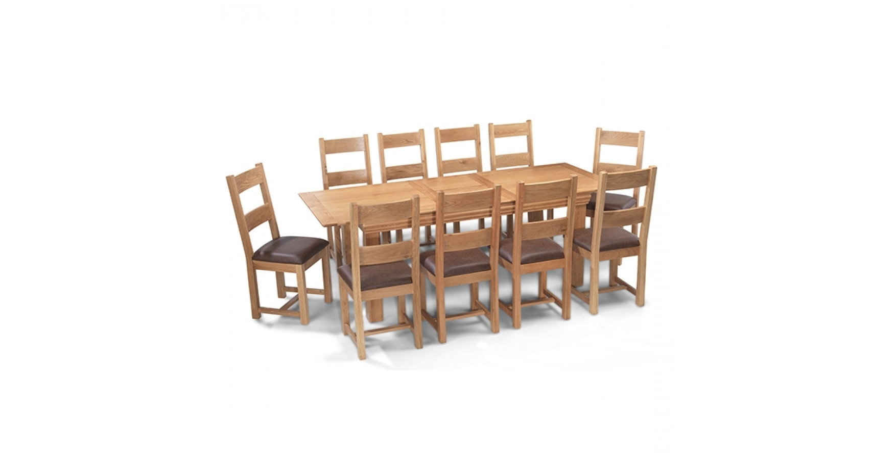 Famous Breton Oak 180 230 Cm Extending Dining Table And 10 Chairs Throughout Dining Table And 10 Chairs (View 4 of 25)