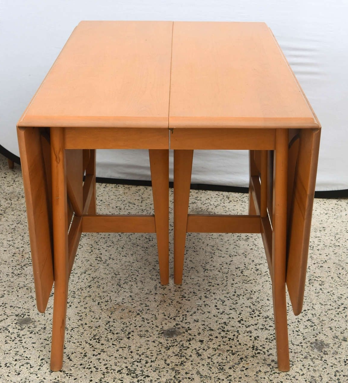 Famous Cheap Drop Leaf Dining Tables Pertaining To Maple Heywood Wakefield Drop Leaf Dining Table, 1950S Saturday In (View 13 of 25)