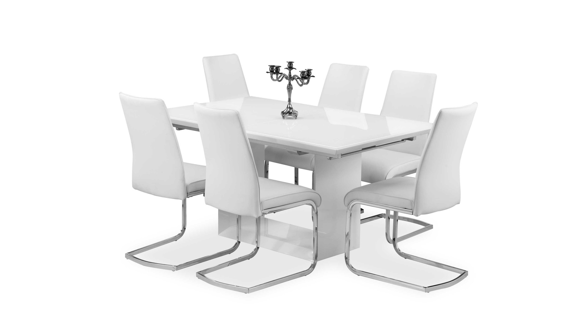 Famous Cheap White High Gloss Dining Tables Throughout Soho – Extending Dining Table – White High Gloss (View 17 of 25)