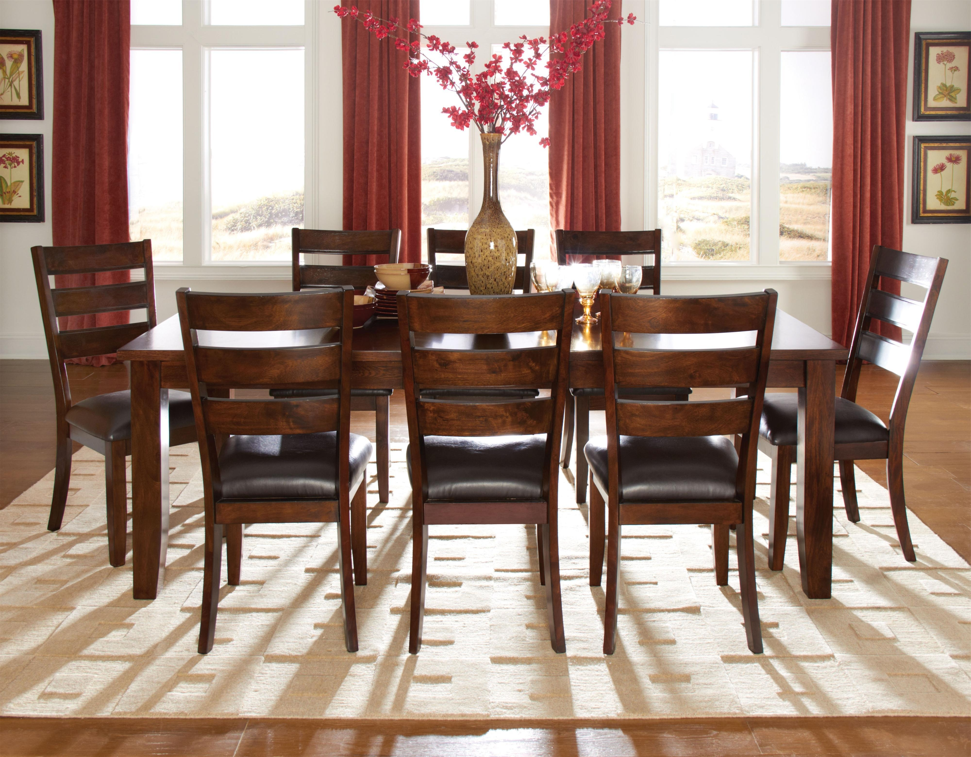 Famous Cheery Caira Piece Extension Set Back Chairs Caira Piece Extension Regarding Walden 9 Piece Extension Dining Sets (View 5 of 25)