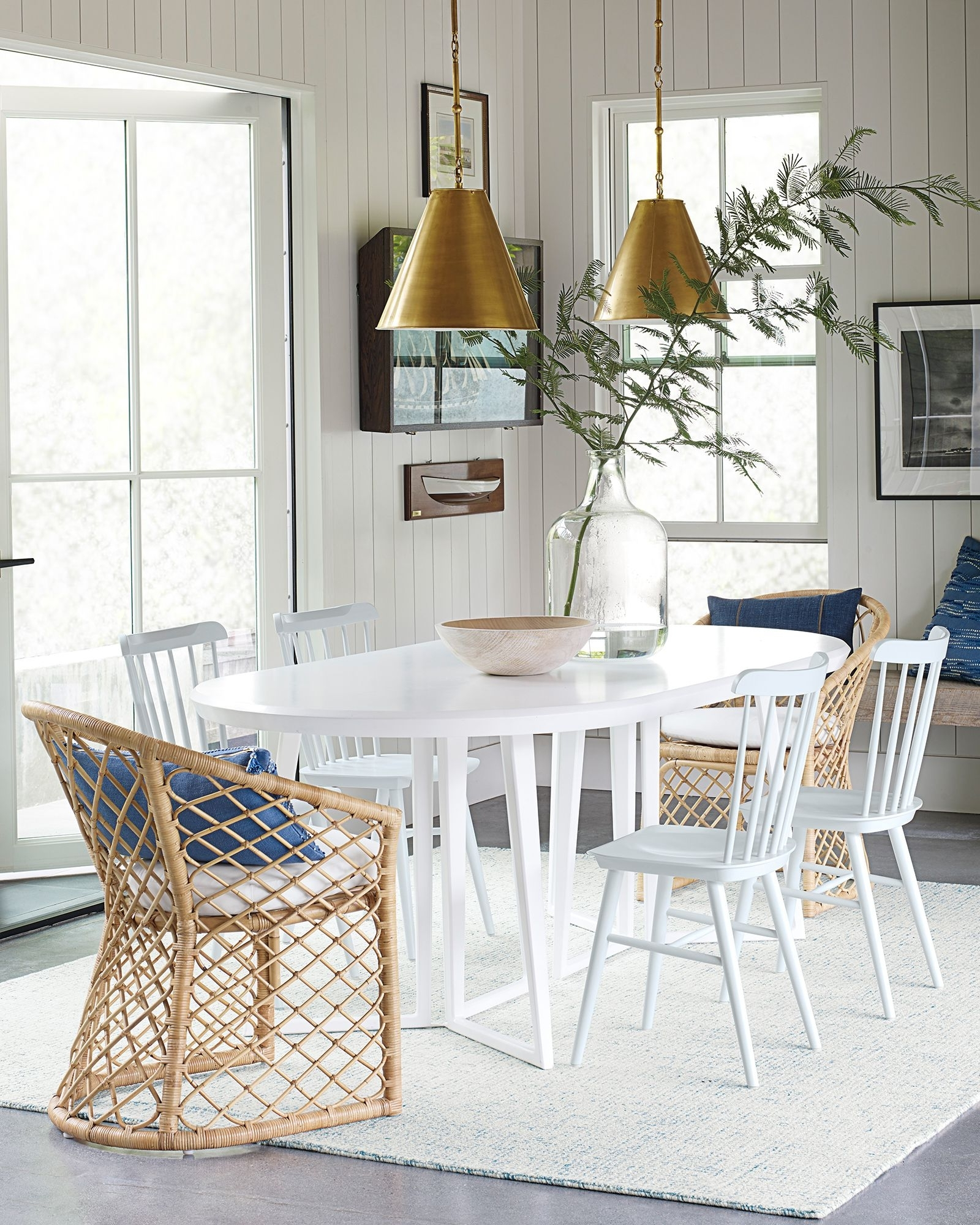 Famous Coastal Dining Tables Intended For Serena & Lily Downing Oval Dining Table (View 10 of 25)