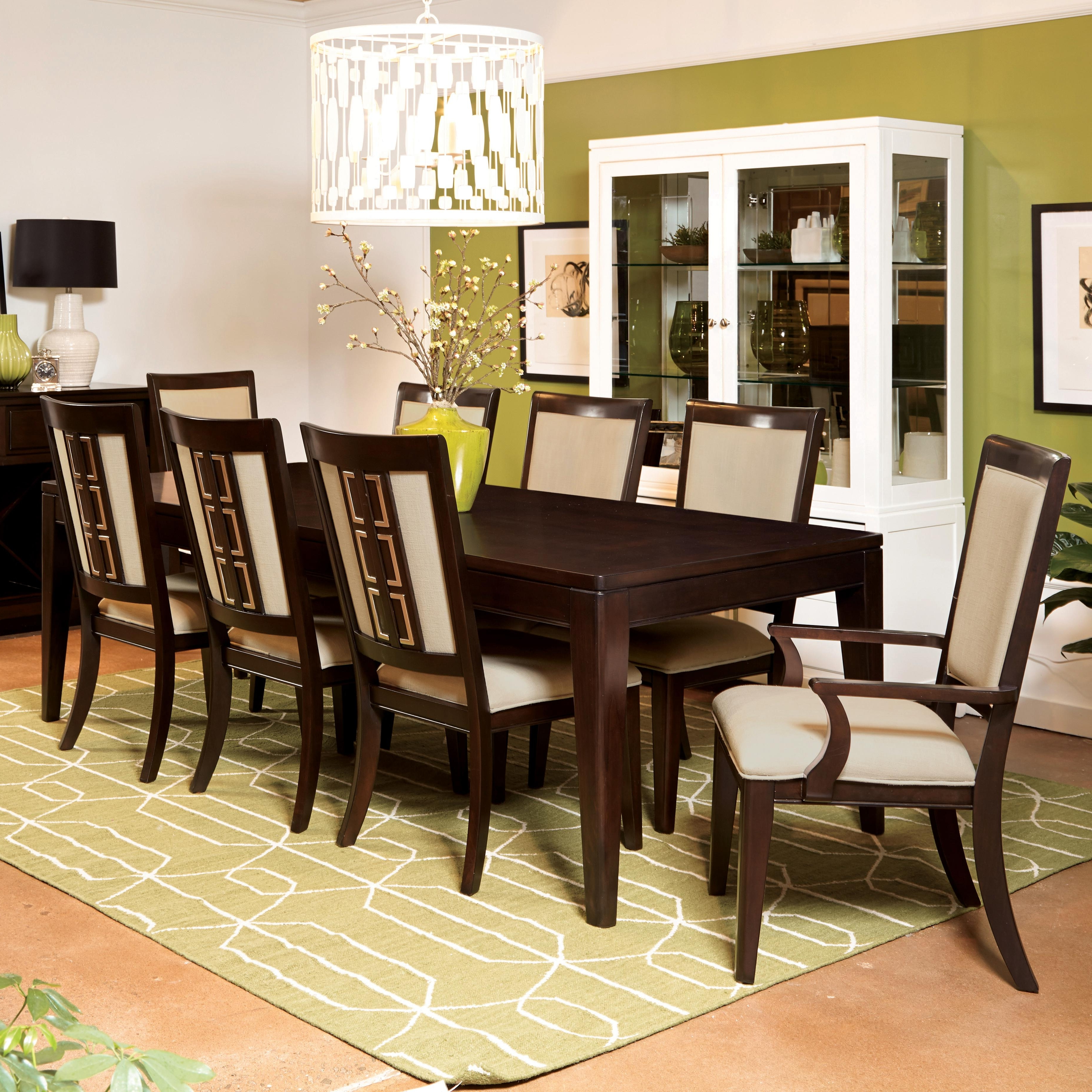 Famous Contemporary Dining Room Tables And Chairs Within Samuel Lawrence Brighton 9 Piece Contemporary Dining Table Set (View 17 of 25)