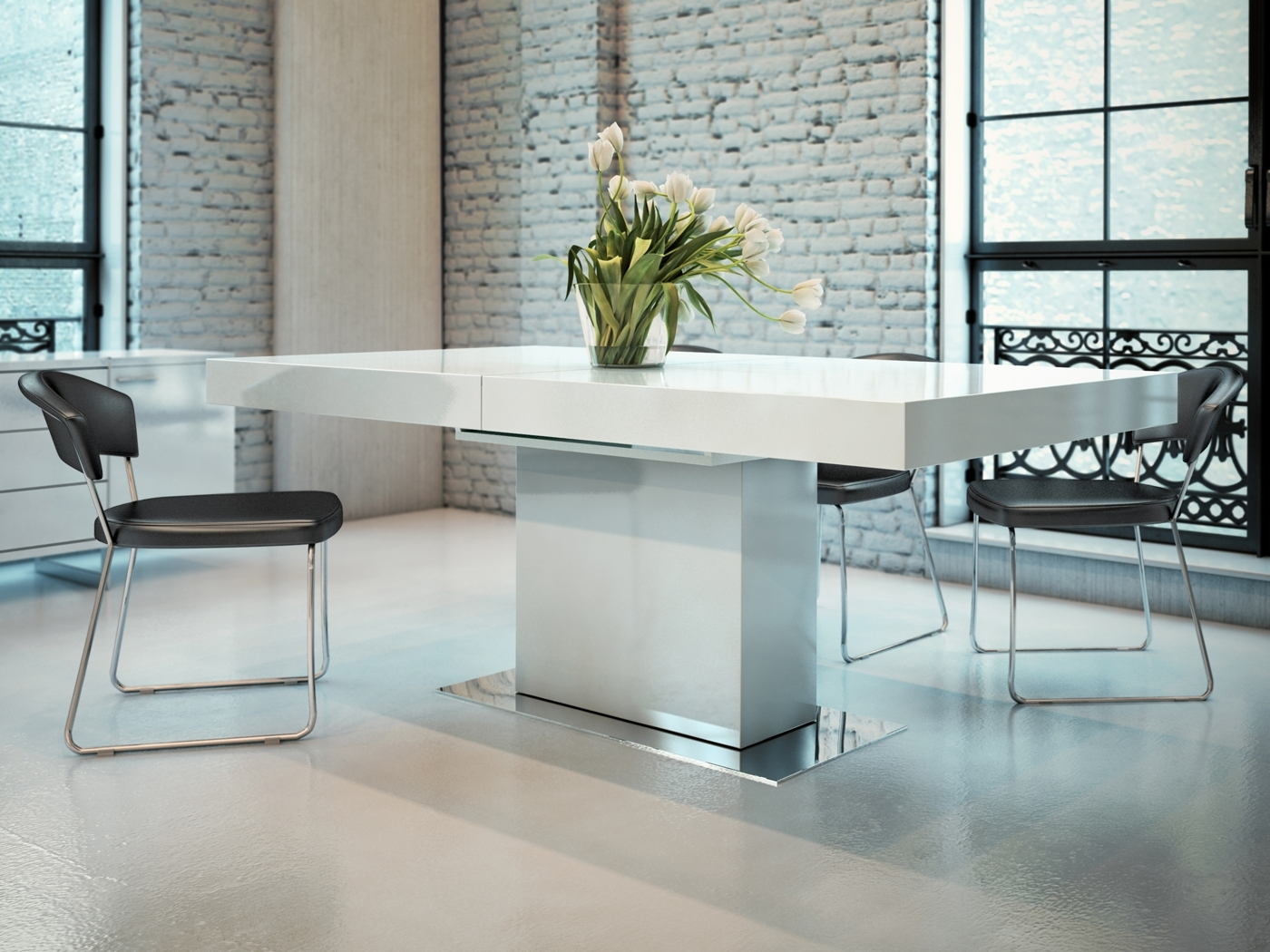 Famous Contemporary Extendable Dining Table With Three Color Options St Pertaining To Contemporary Extending Dining Tables (View 11 of 25)