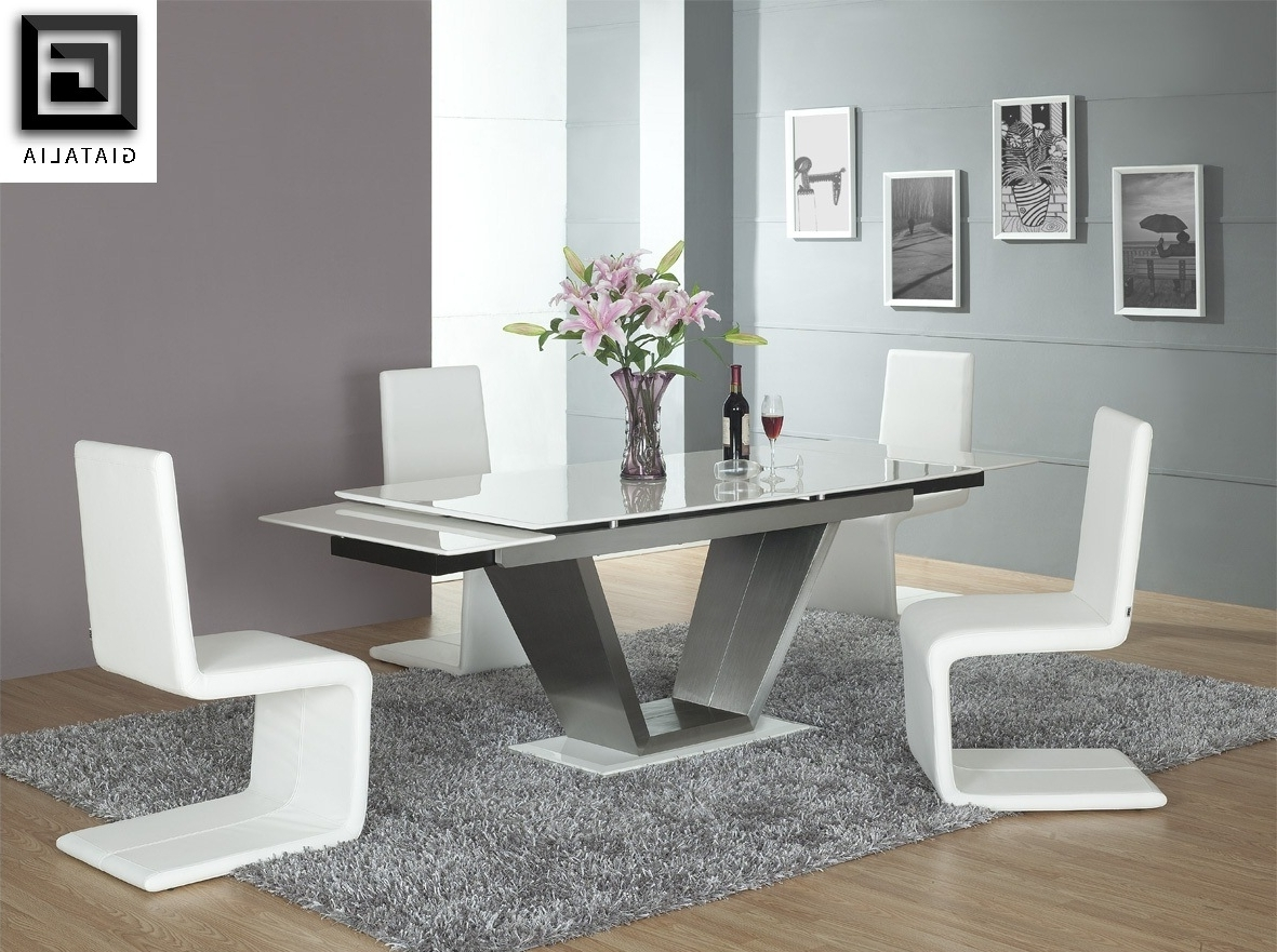 Famous Contemporary White Dining Room Furniture Dining Chairs Short Dining Pertaining To Contemporary Dining Room Chairs (View 13 of 25)