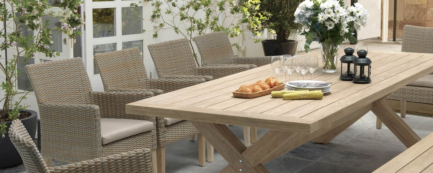 Famous Cora Dining Tables Within Cora 10 Seater Dining Bench Bg – Kettler Official Site (View 10 of 25)