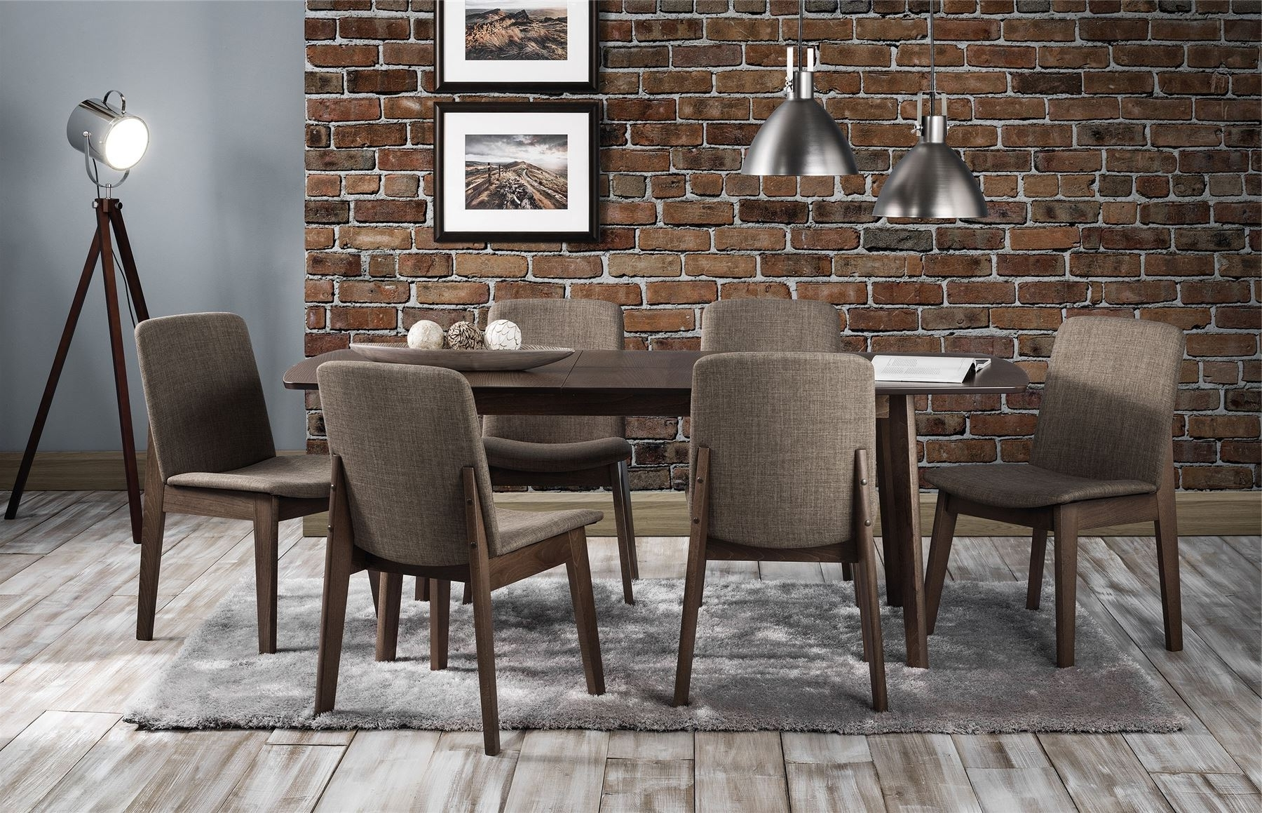 Famous Dining Extending Tables And Chairs Regarding Julian Bowen Kensington Walnut Extending Dining Table & 6 Chairs (View 15 of 25)