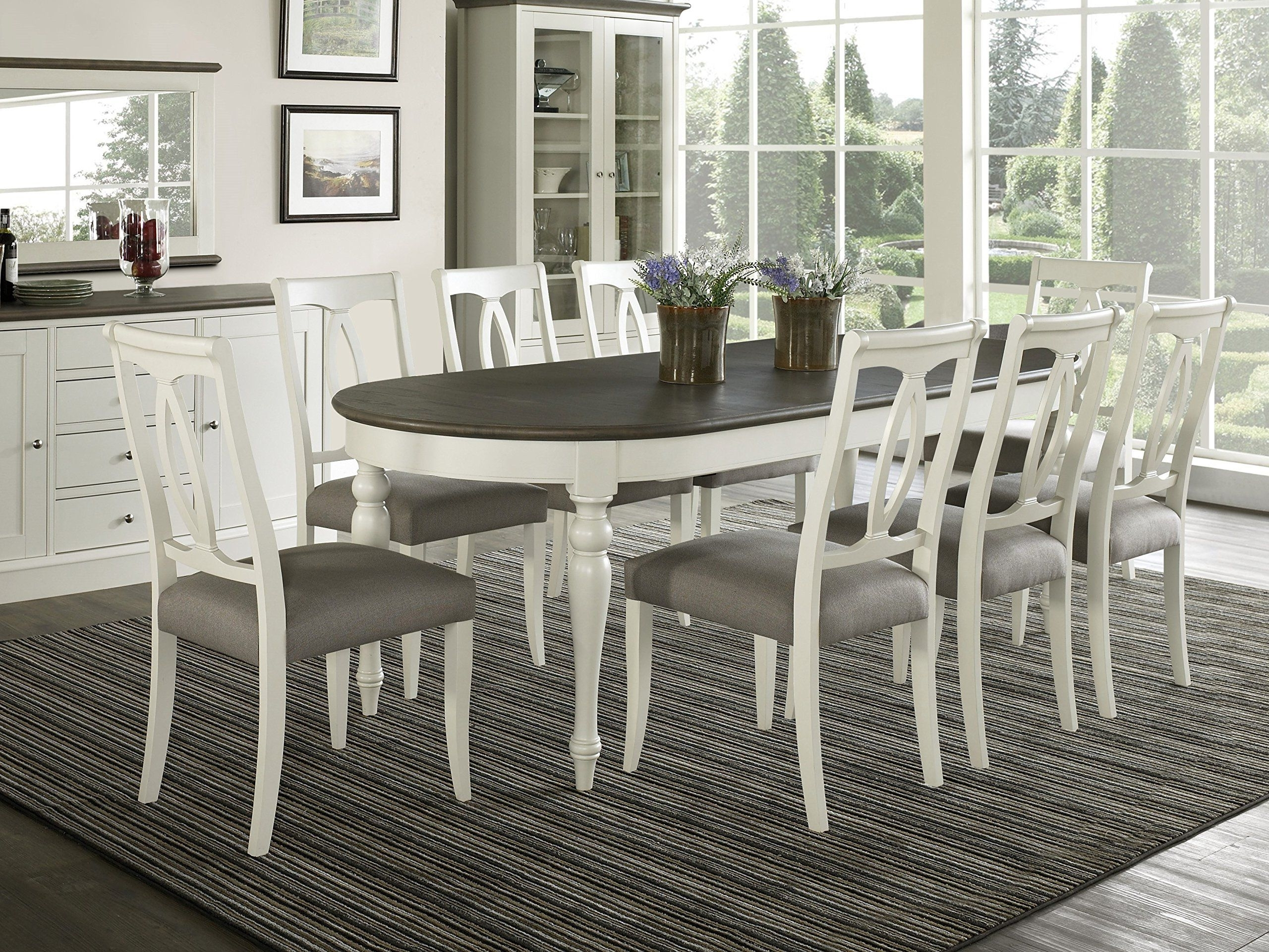 Famous Dining Tables Set For 8 Within Coastlink Vegas 9 Piece Oval Extension Dining Table Set For 8 (Oval (View 15 of 25)