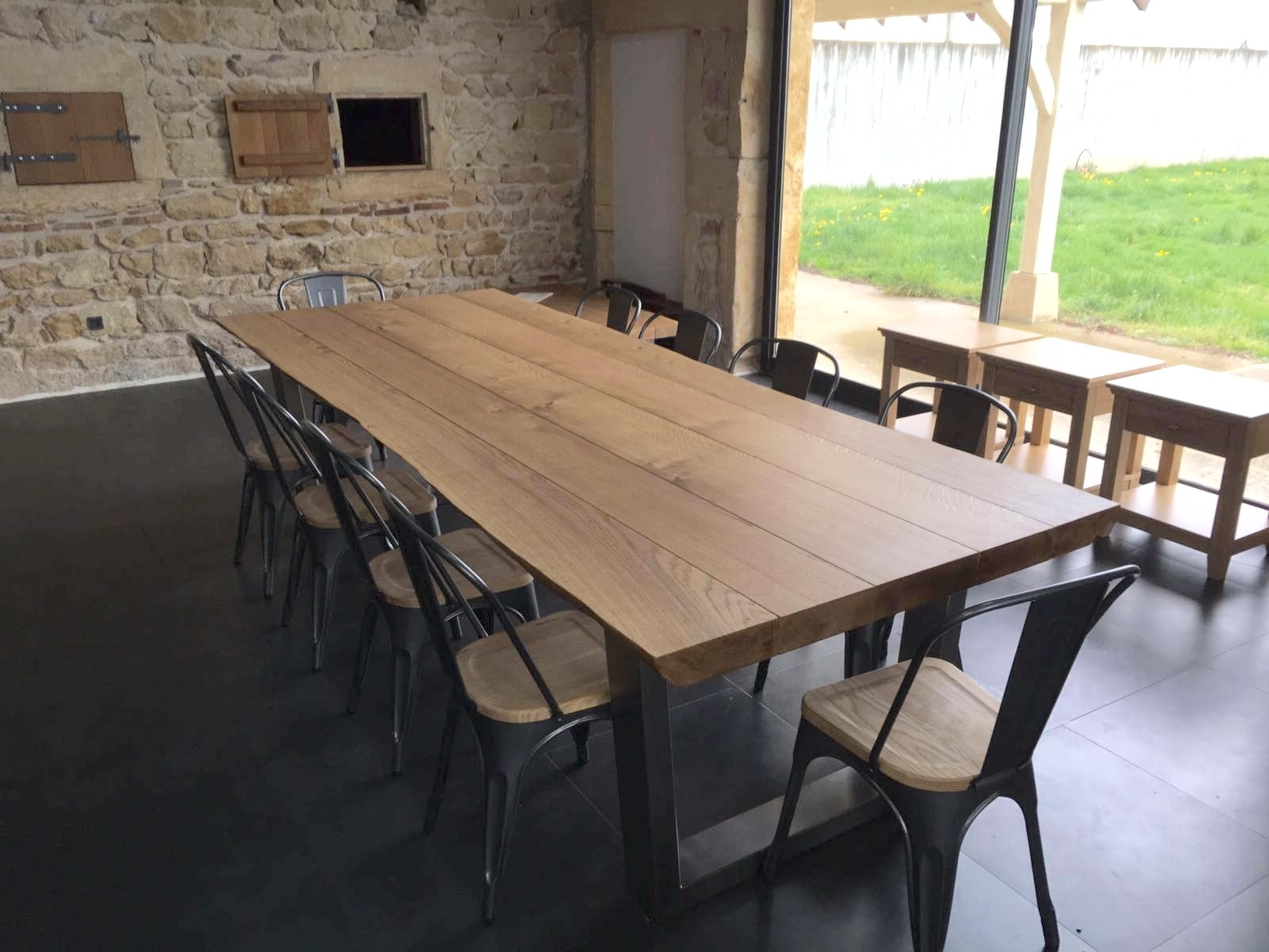 Famous Dining Tables With Large Legs Regarding Large Oak Dining Table Selection (View 13 of 25)