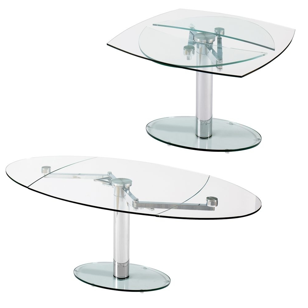 Famous Extending Glass Dining Tables Regarding Extending Glass Table Options From Dwell – Luca Glass Extending (View 12 of 25)