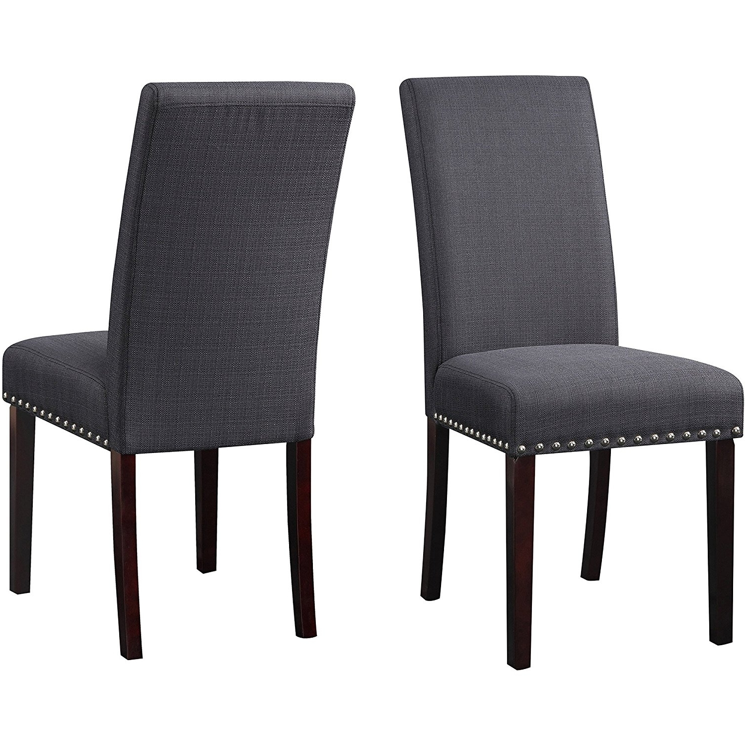 Famous Fabric Covered Dining Chairs Regarding Bistro Dining Chairs (Set Of 2) Upholstered Fabric Parsons Side (View 14 of 25)