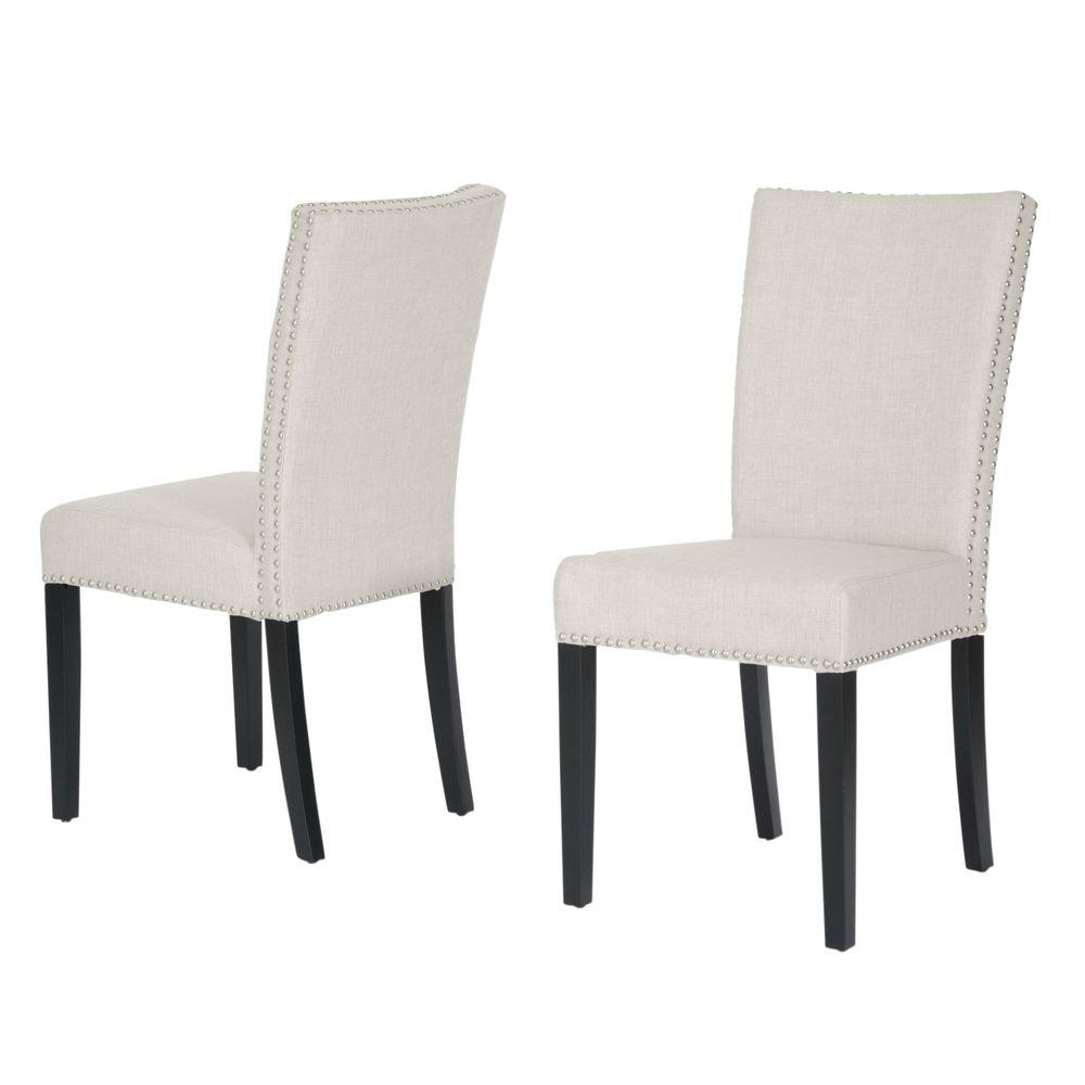 Famous Fabric Dining Chairs With Baxton Studio Harrowgate Beige Fabric Upholstered Dining Chairs (Set Of 2) (View 12 of 25)