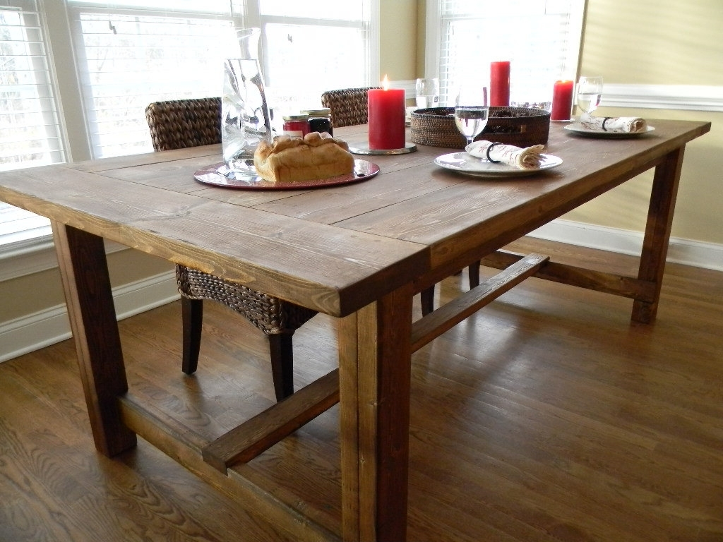 Famous Farm Dining Tables Throughout Farmhouse Dining Tables – Farmhouse Dining Table Decorating And (View 14 of 25)
