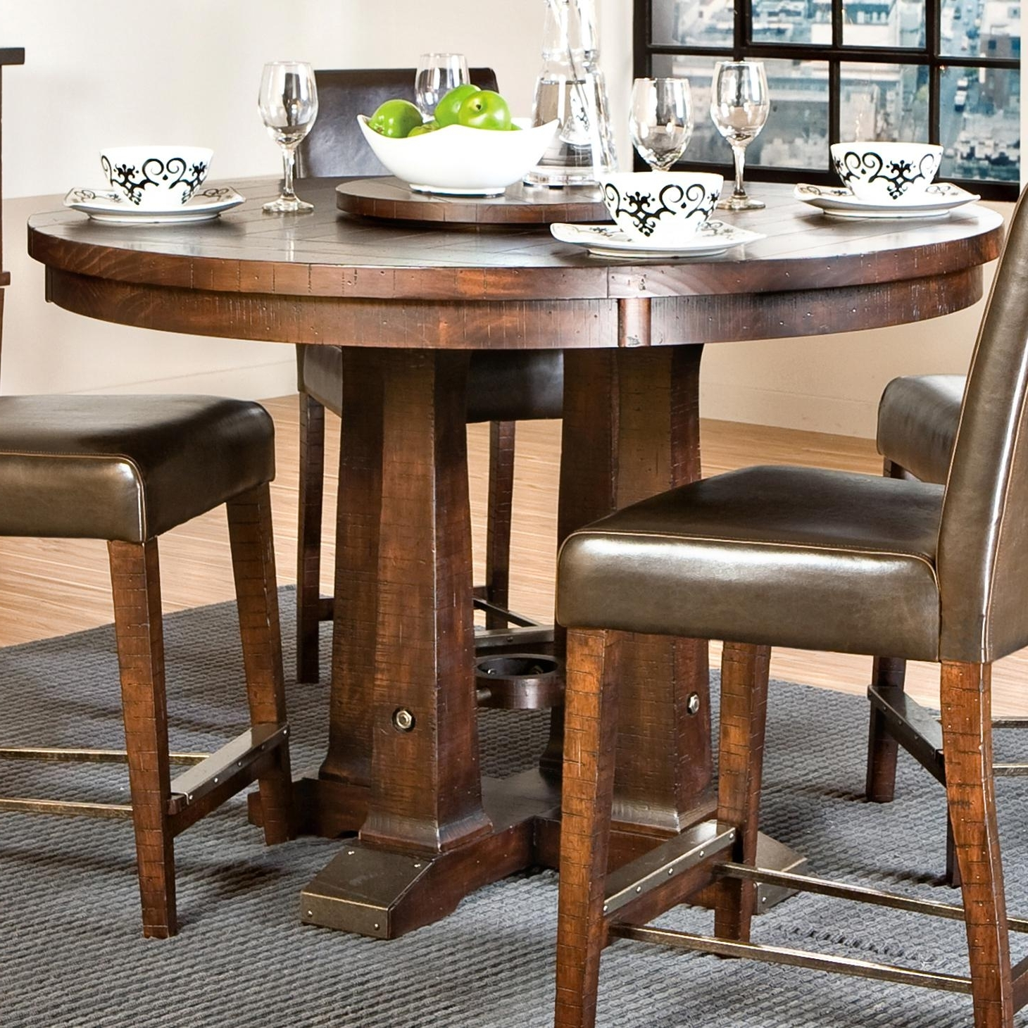 Famous Hayden Dining Tables With Intercon Hayden Round Gathering Table With Pedestal Base (View 2 of 25)