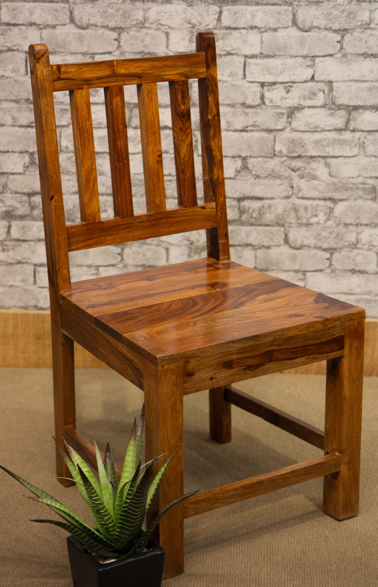 Famous Ibf 049 Low Slat Back Sheesham Dining Chair Pertaining To Sheesham Dining Chairs (View 11 of 25)