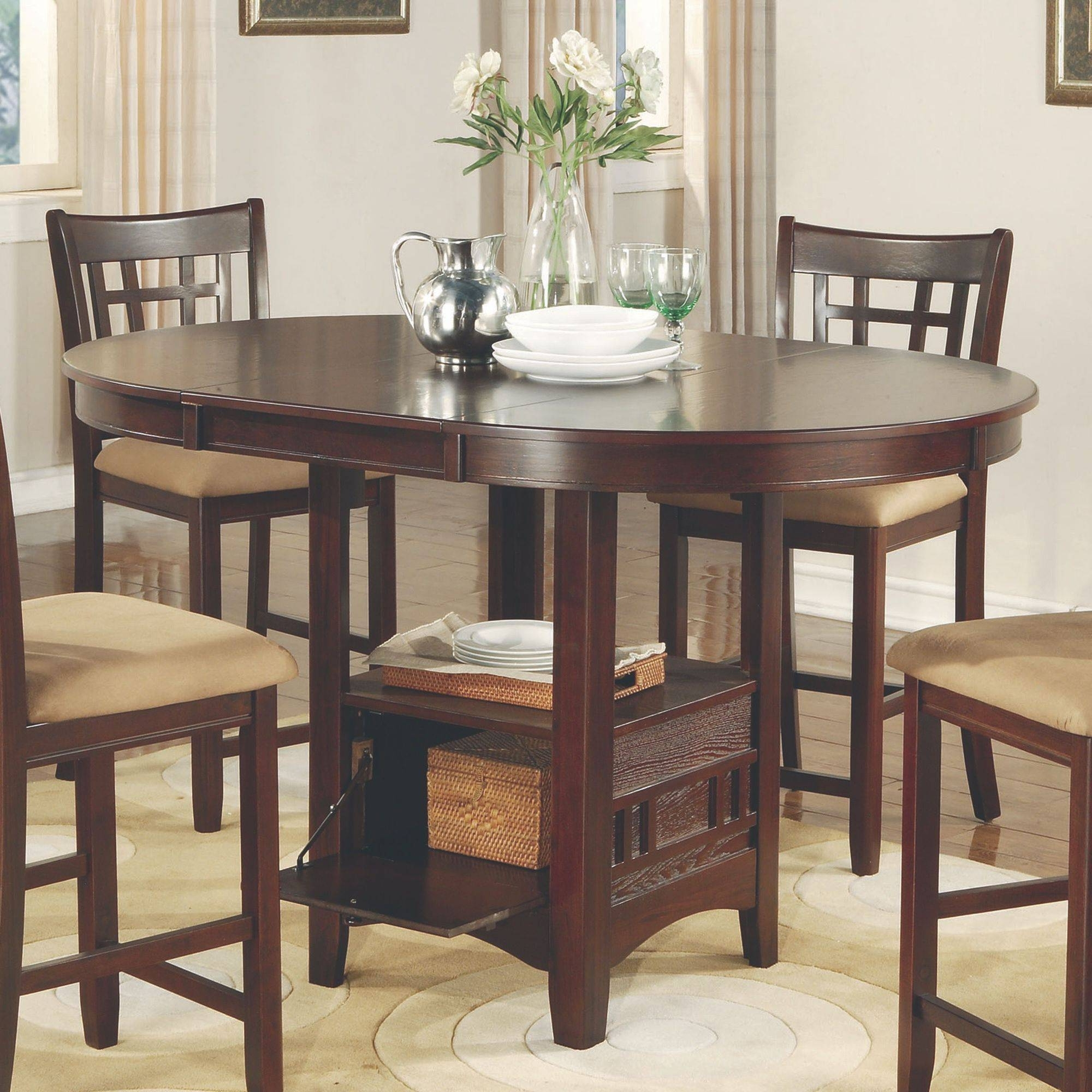 Famous Jaxon 5 Piece Extension Counter Sets With Fabric Stools Regarding Signature Designashley Kimonte Rectangular Dining Counter Table (View 4 of 25)