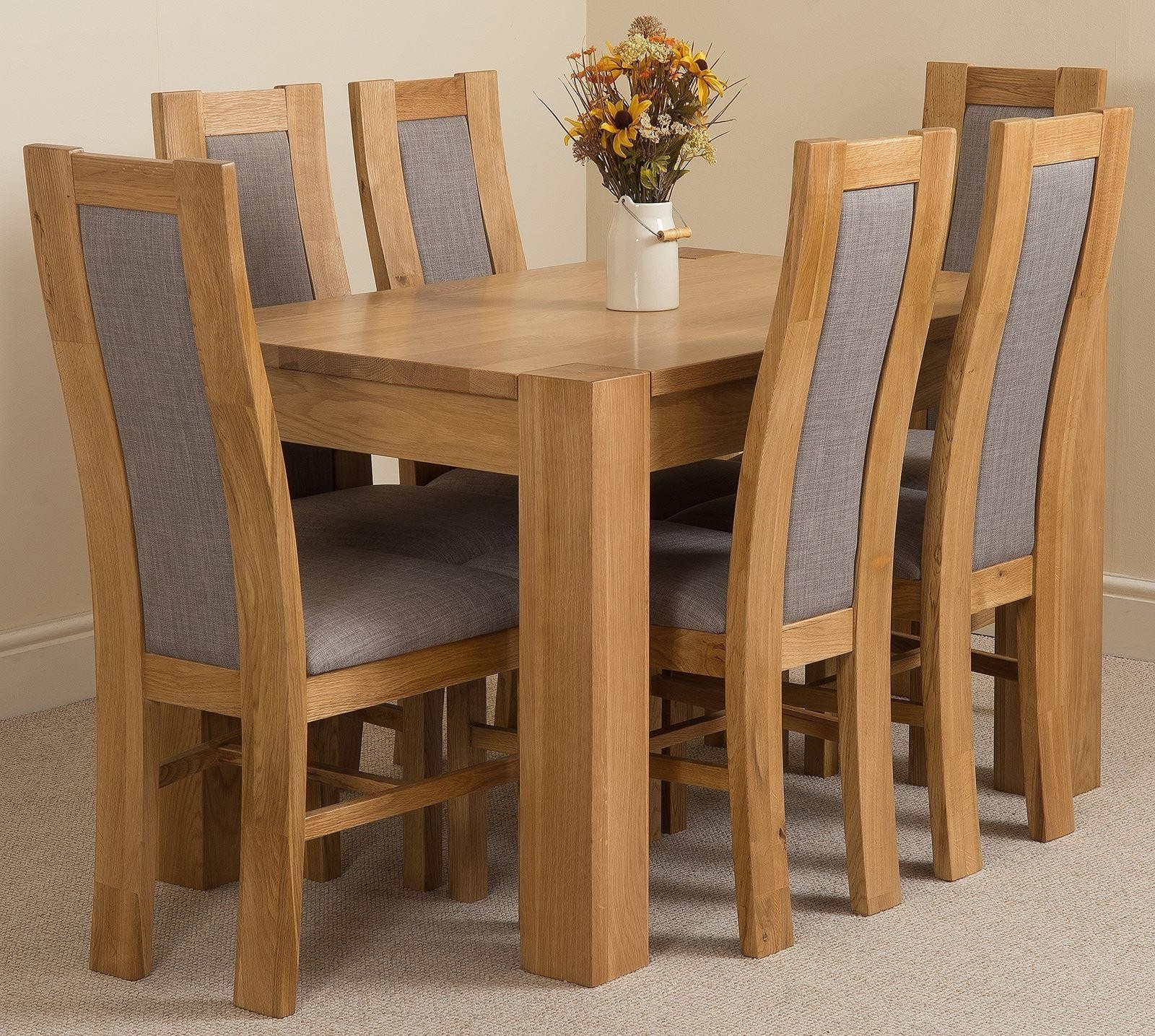 Famous Kuba Small Dining Set 6 Stanford Chairs (View 11 of 25)