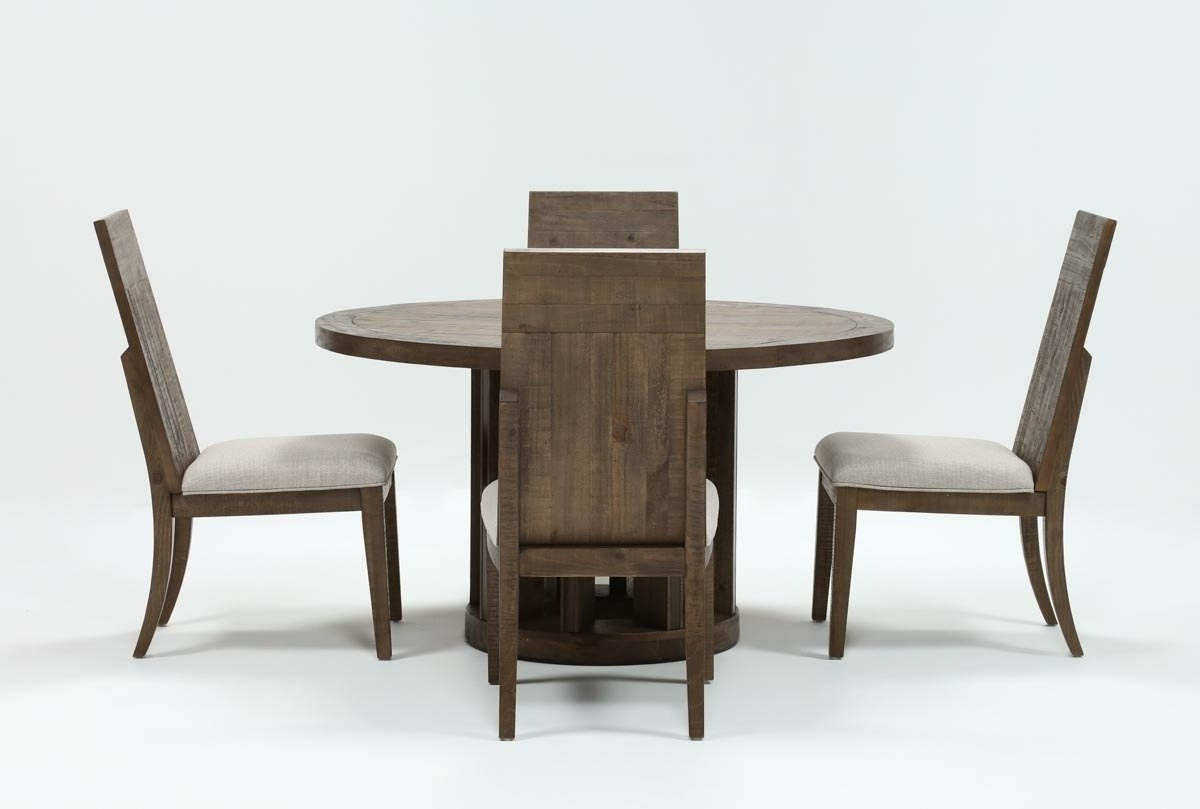 Famous Lassen Round Dining Tables Throughout Lassen 5 Piece Round Dining Set (View 2 of 25)