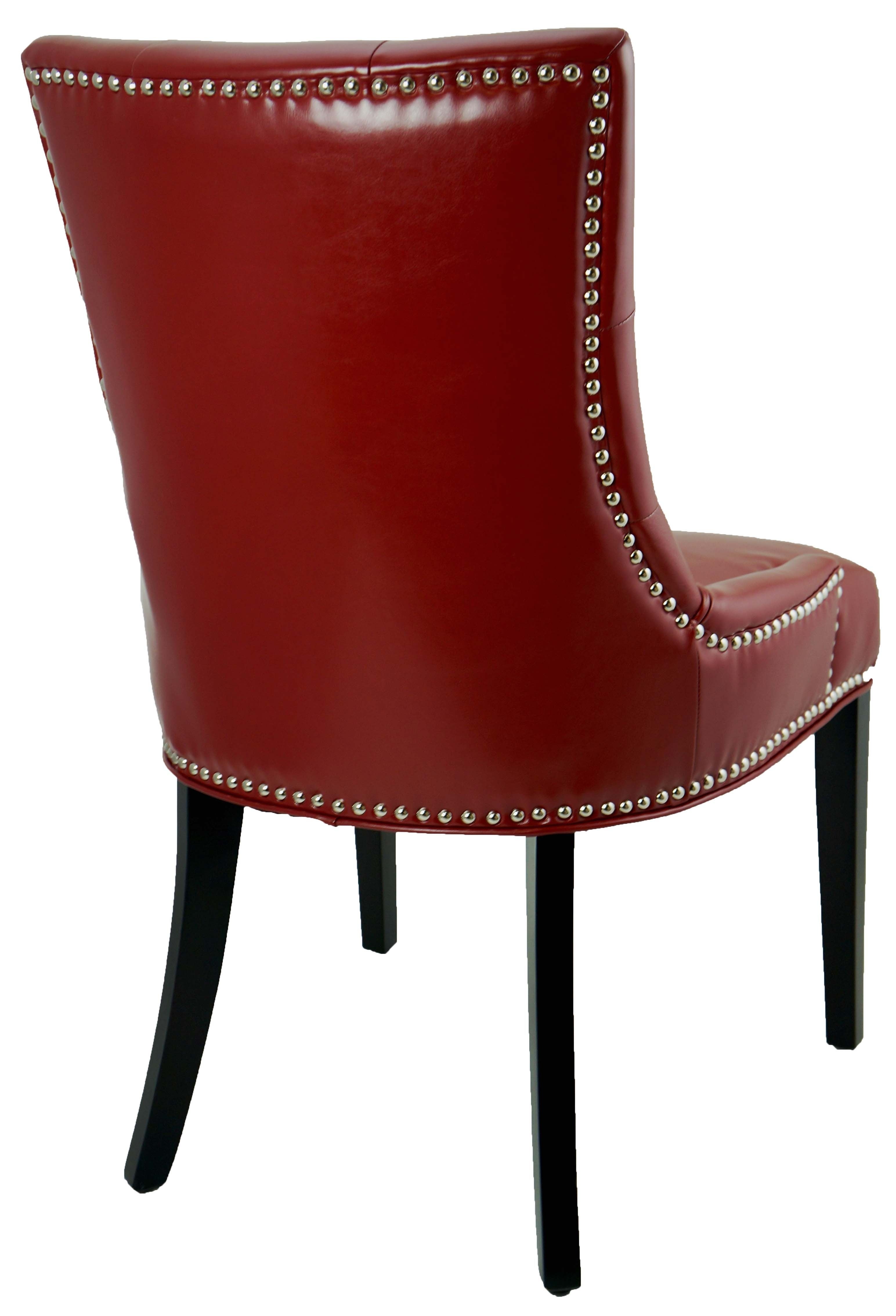 Famous Leather Parson, Dining Room & Kitchen Chairs :: Red Accent Tufted Pertaining To Red Leather Dining Chairs (View 2 of 25)