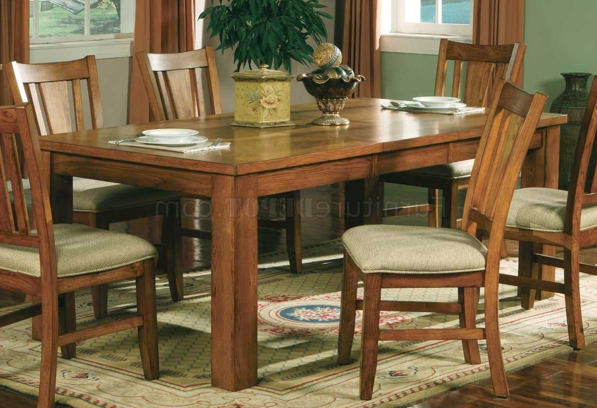 Famous Light Oak Dining Tables And Chairs In Light Oak Finish Casual Dining Room Table W/optional Chairs (View 2 of 25)