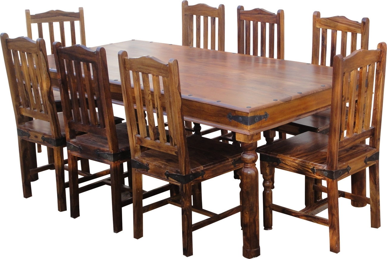 Famous Lola Dining Set With 8 Chairs Intended For Sheesham Dining Tables 8 Chairs (View 5 of 25)