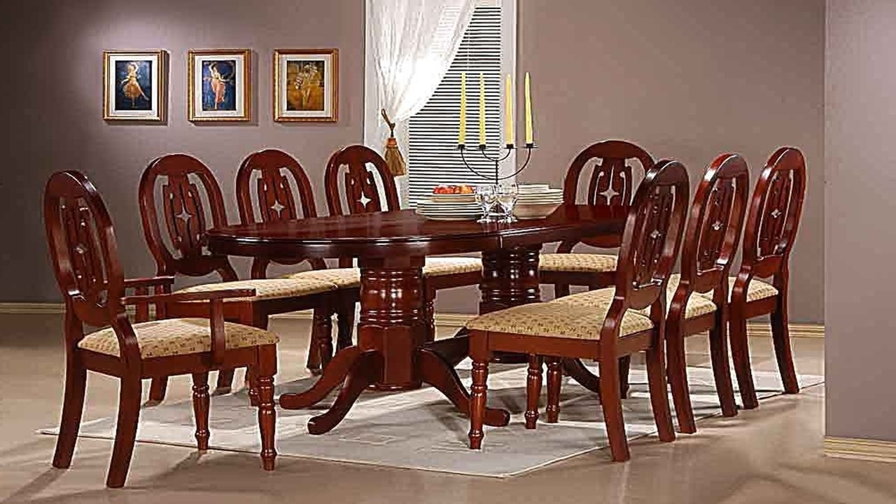 Famous Mahogany Dining Table With 6 Chairs And 2 Carvers – Homegenies Inside Cheap 8 Seater Dining Tables (View 8 of 25)