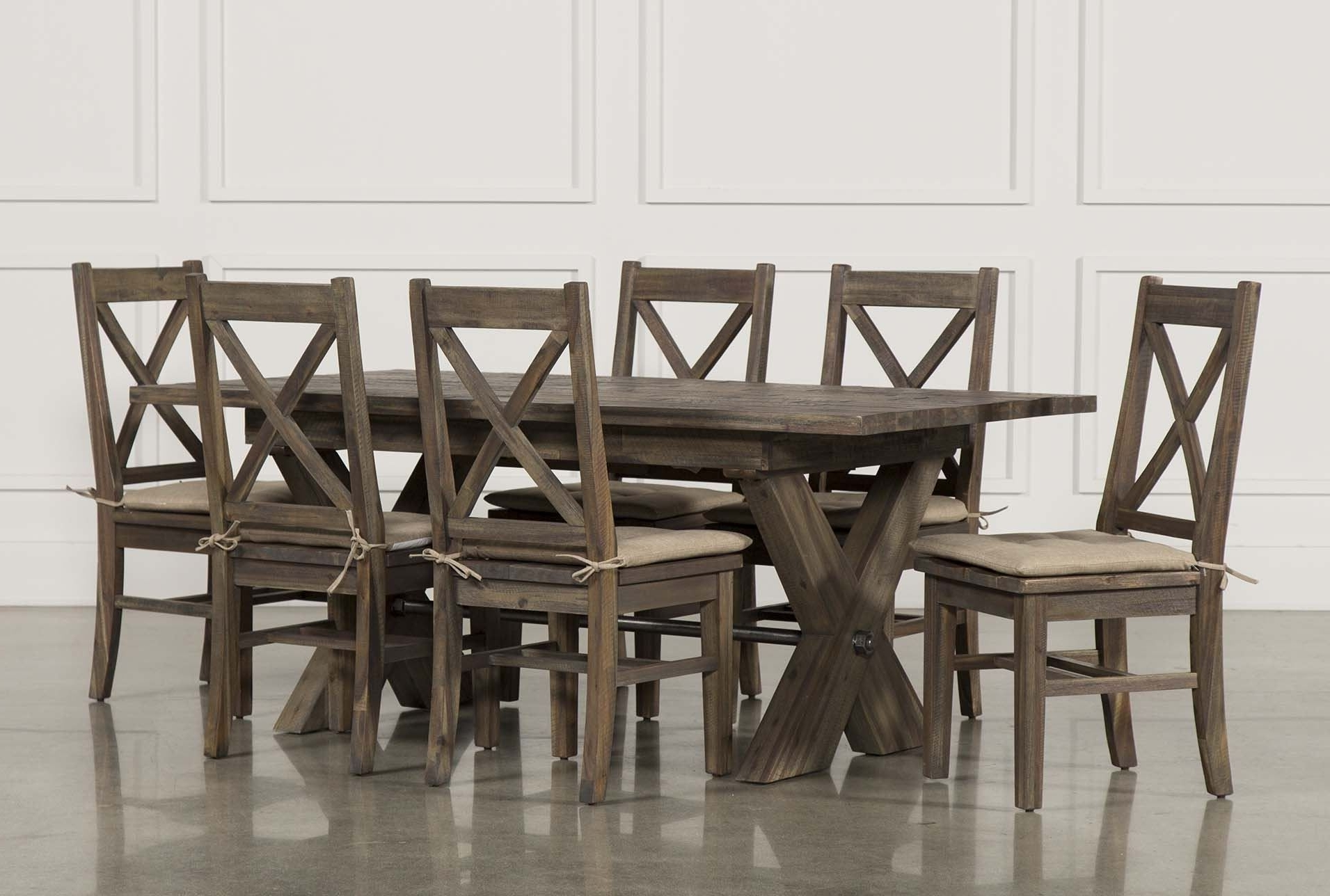 Famous Mallard 7 Piece Extension Dining Set, Grey (View 4 of 25)