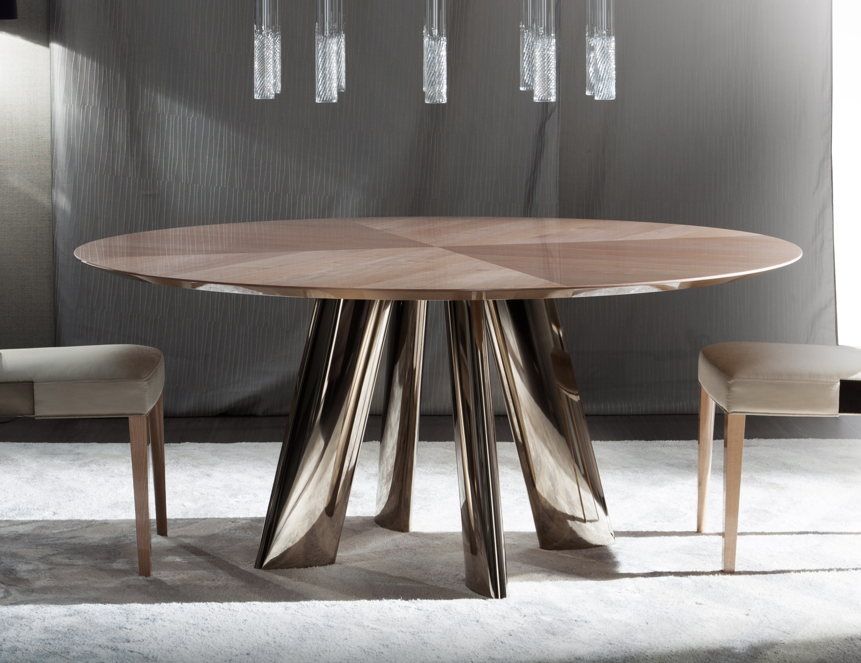 Famous Nella Vetrina Costantini Dress 9285Tr Modern Italian Dining Table Intended For Italian Dining Tables (View 4 of 25)