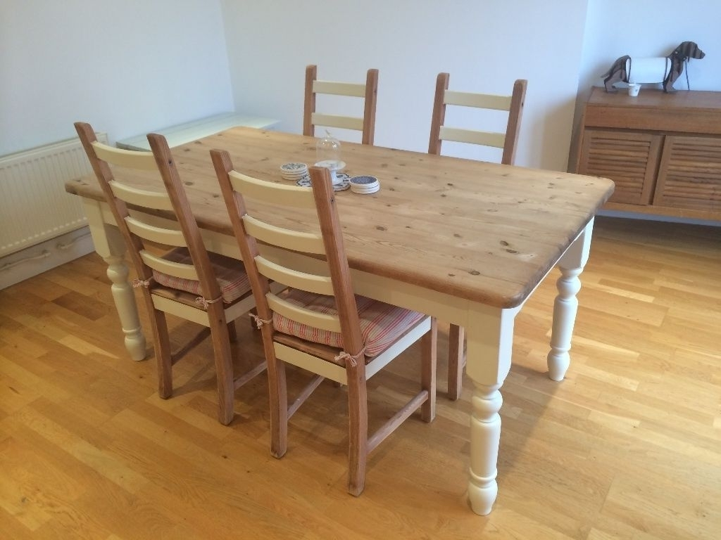 Famous Norwood Rectangle Extension Dining Tables Pertaining To Bargain £200 Solid Pine Wood Dining Table (With 4 Free Chairs (View 20 of 25)