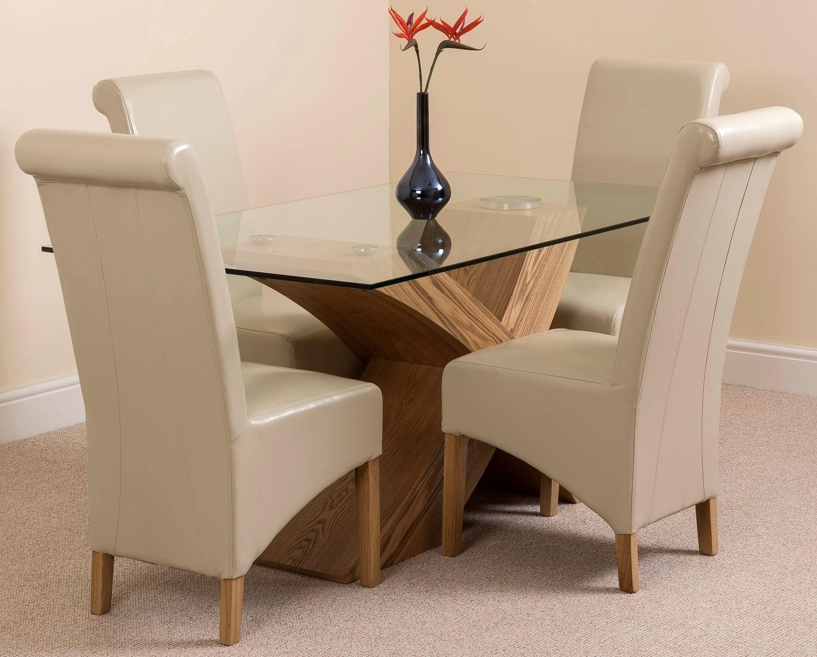 Famous Oak And Glass Dining Tables Sets Inside Fantastic Oak Glass Dining Tables Ideas Trend Oak And Glass Dining (View 23 of 25)