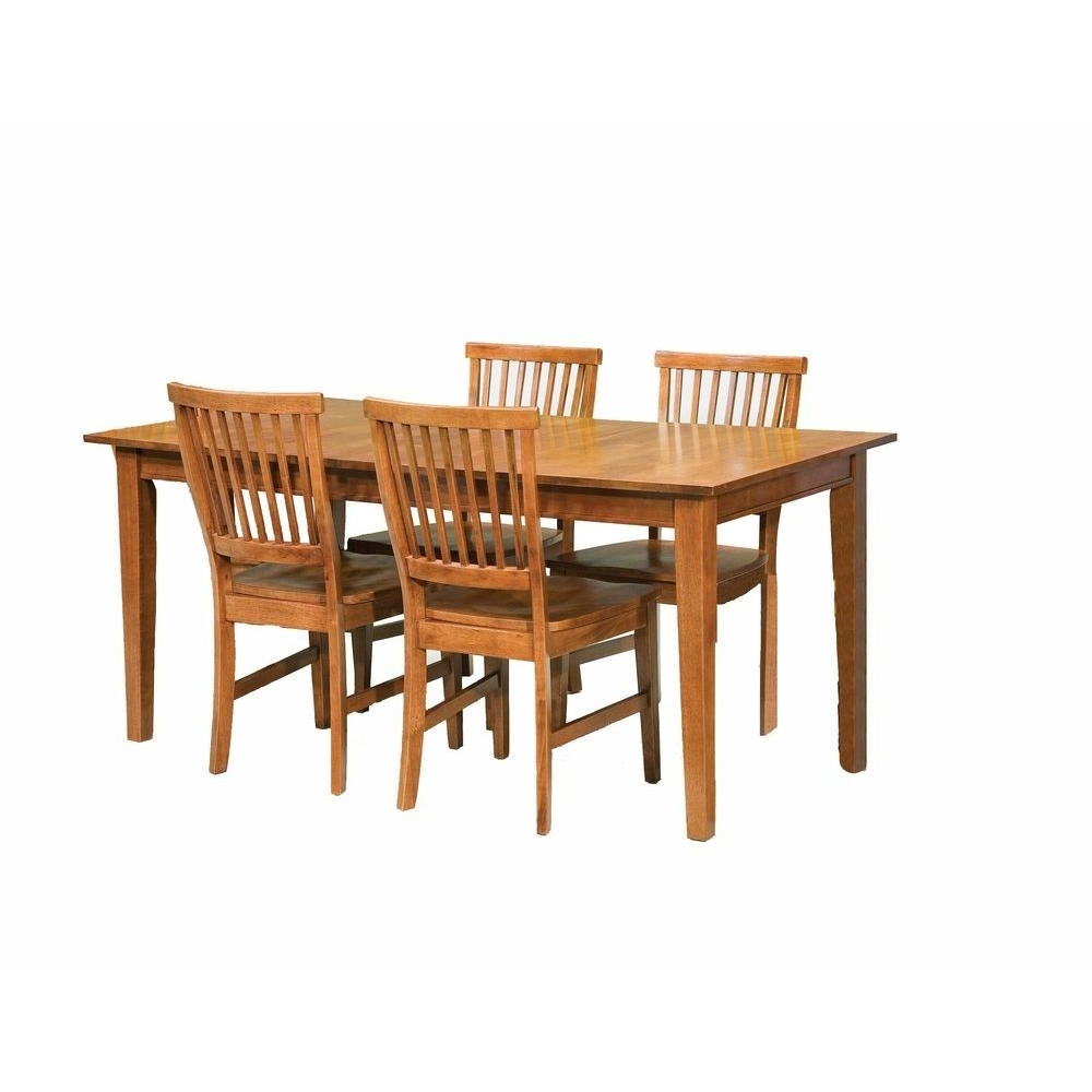 Famous Oak Dining Sets Pertaining To Home Styles Arts And Crafts 5 Piece Cottage Oak Dining Set 5180  (View 5 of 25)