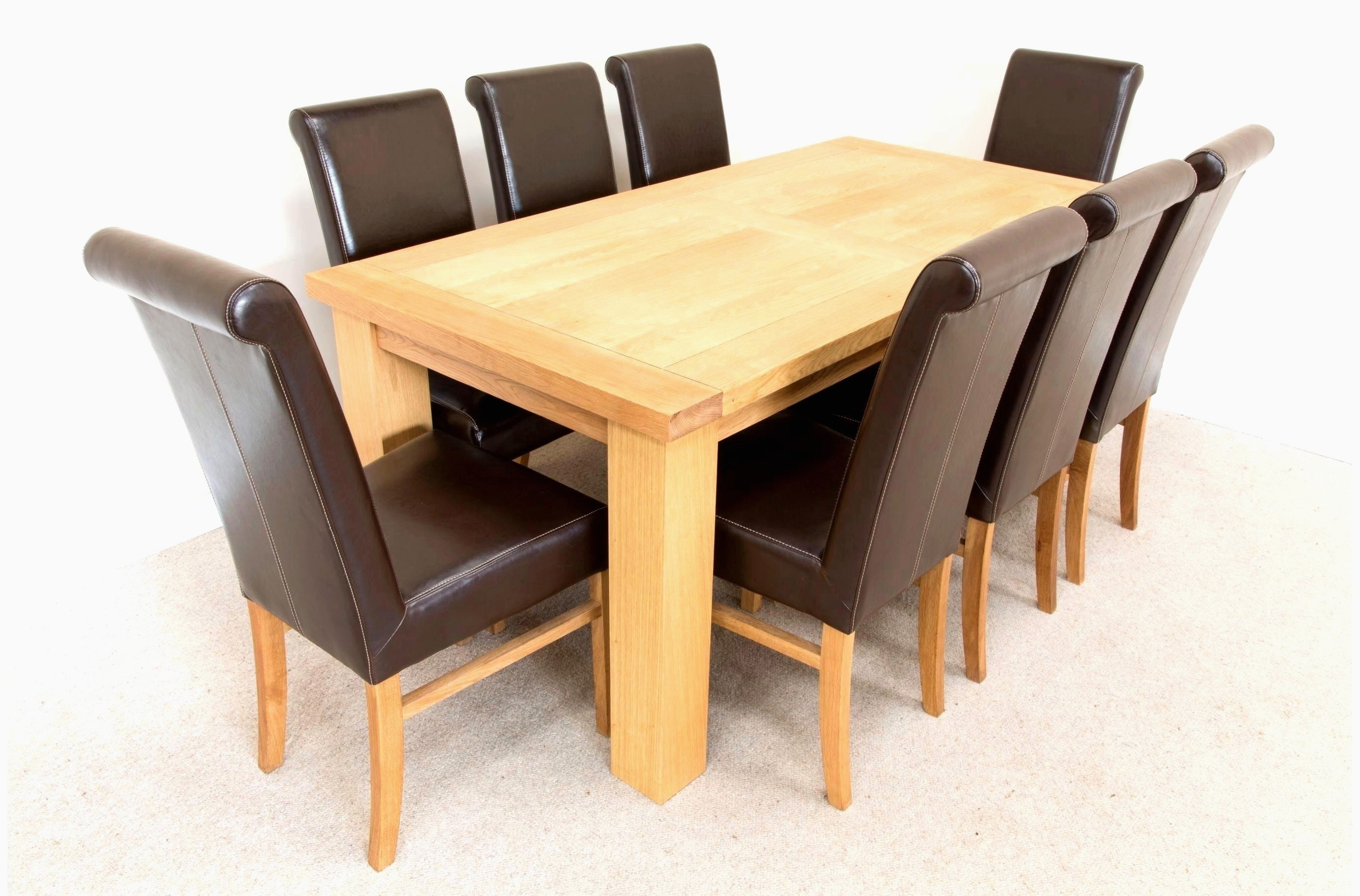 Famous Oak Dining Tables And 8 Chairs Pertaining To Solid Oak Dining Room Table And 8 Chairs Fresh 28 Classy Raw Wood (View 9 of 25)