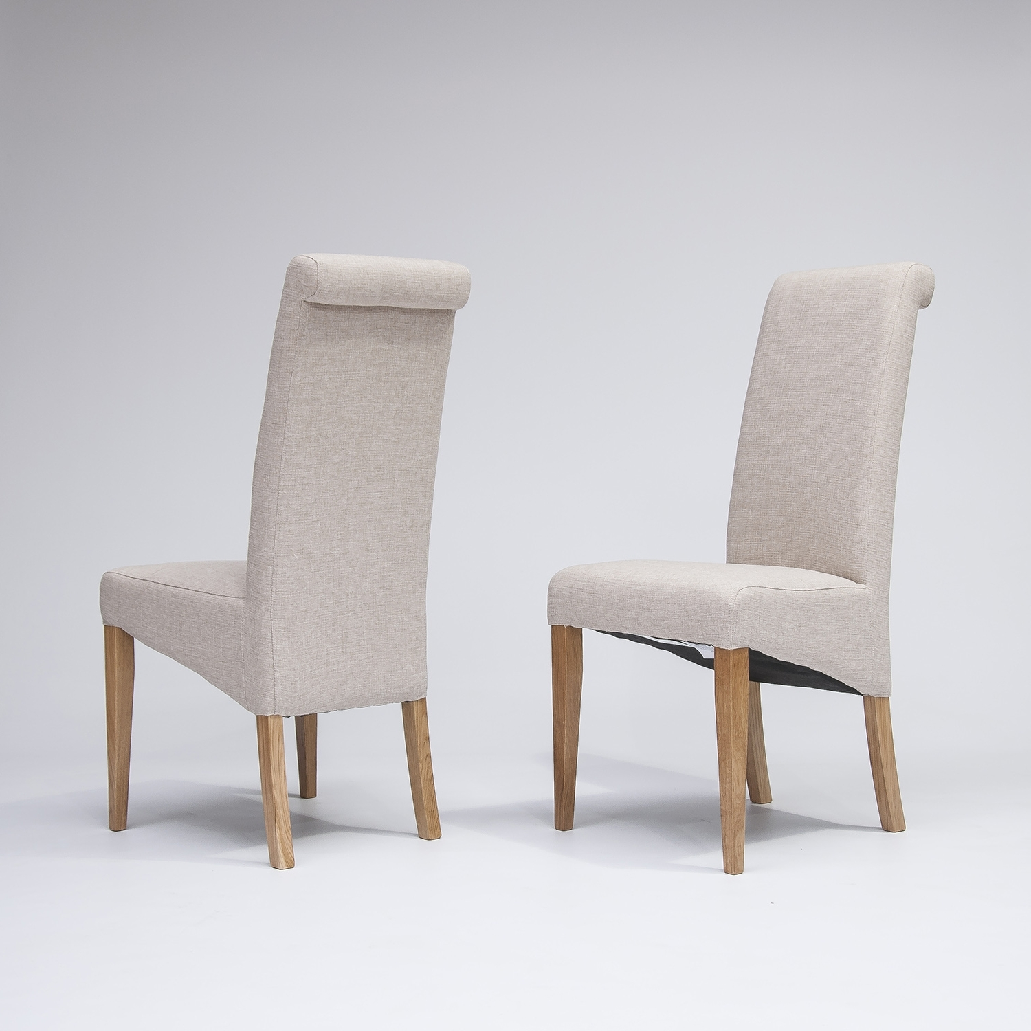 Famous Oak Fabric Dining Chairs In Lyon Oak Glass Dining Table 4 Or 6 Tivoli Oak Fabric Mid Century (View 17 of 25)