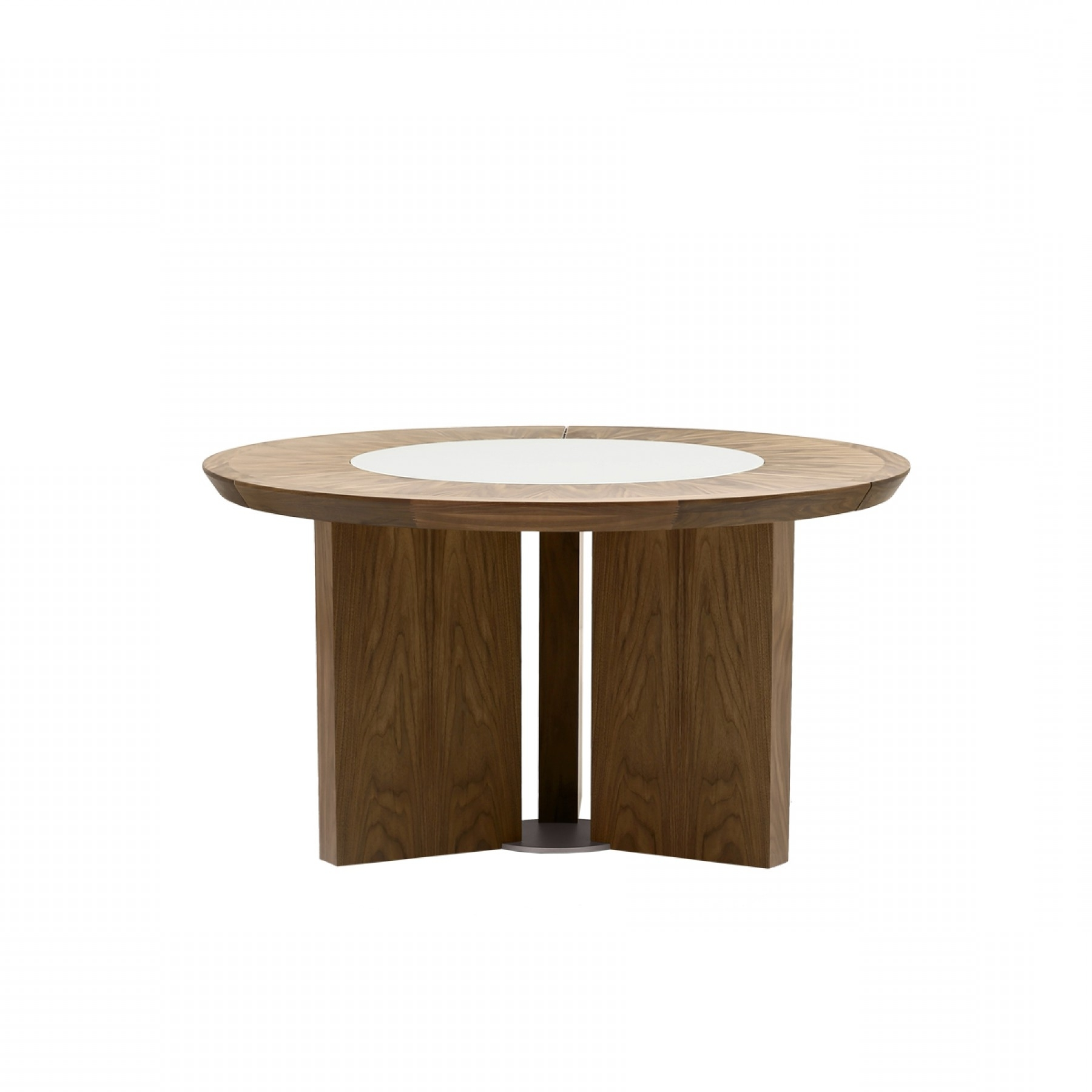Famous Perth Dining Tables Within Midollo Walnut Round Dining Table – Beyond Furniture (View 6 of 25)