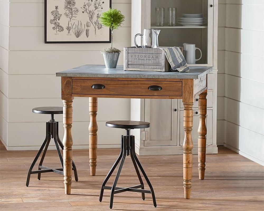 Famous Primitive Taper Turned Gathering Table – Magnolia Home (View 1 of 25)