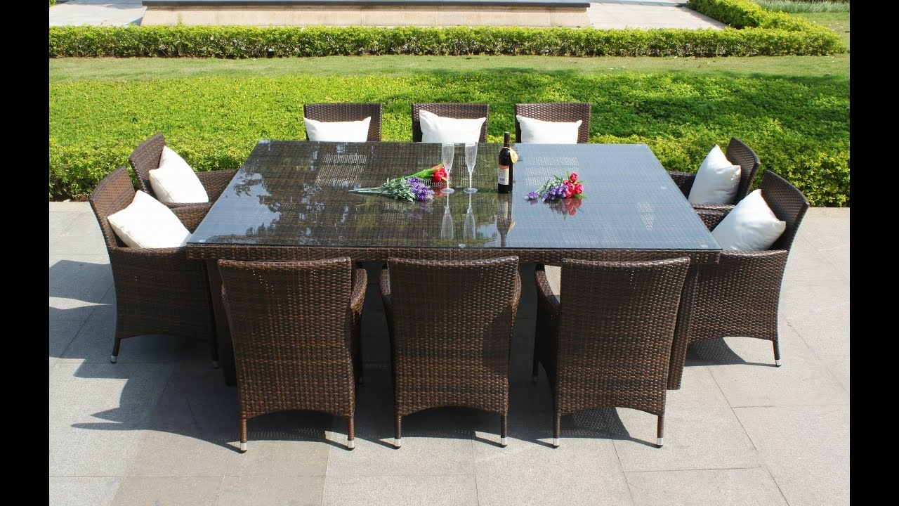 Famous Rattan Dining Tables Intended For Outdoor Wicker Dining Set~Wicker Outdoor Dining Furniture Australia (View 21 of 25)