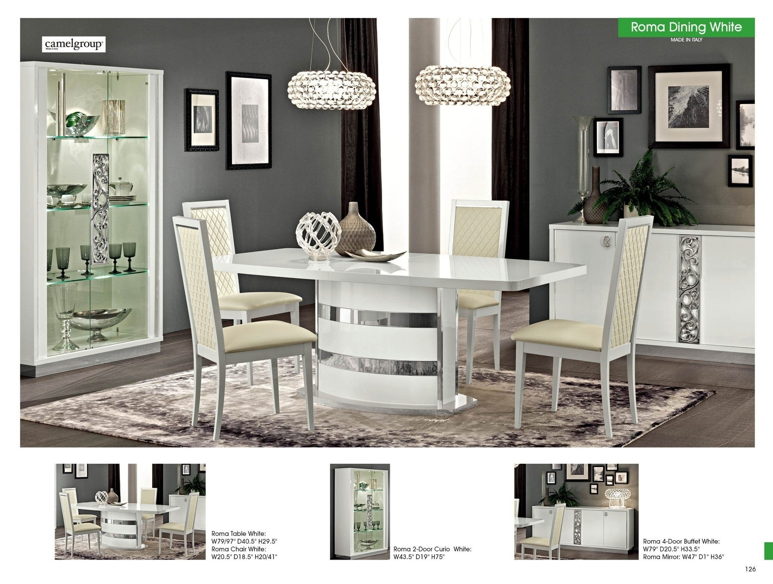 Famous Roma Dining Tables In Esf Esf Furniture Roma Dining Table In White – Roma Collection:  (View 7 of 25)